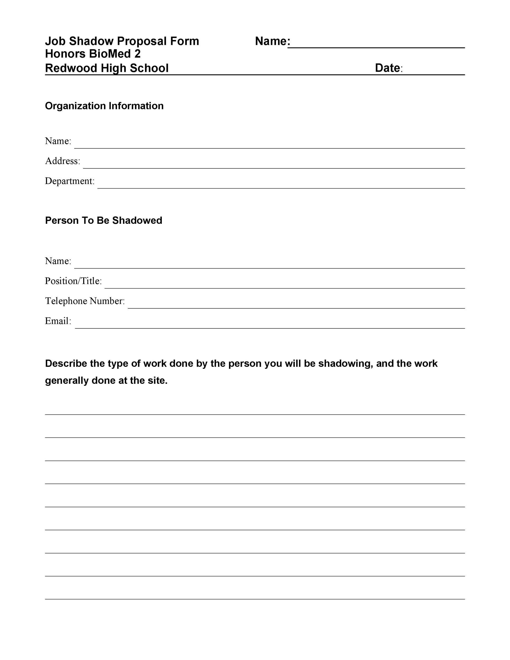 Free Job Proposal Template 17