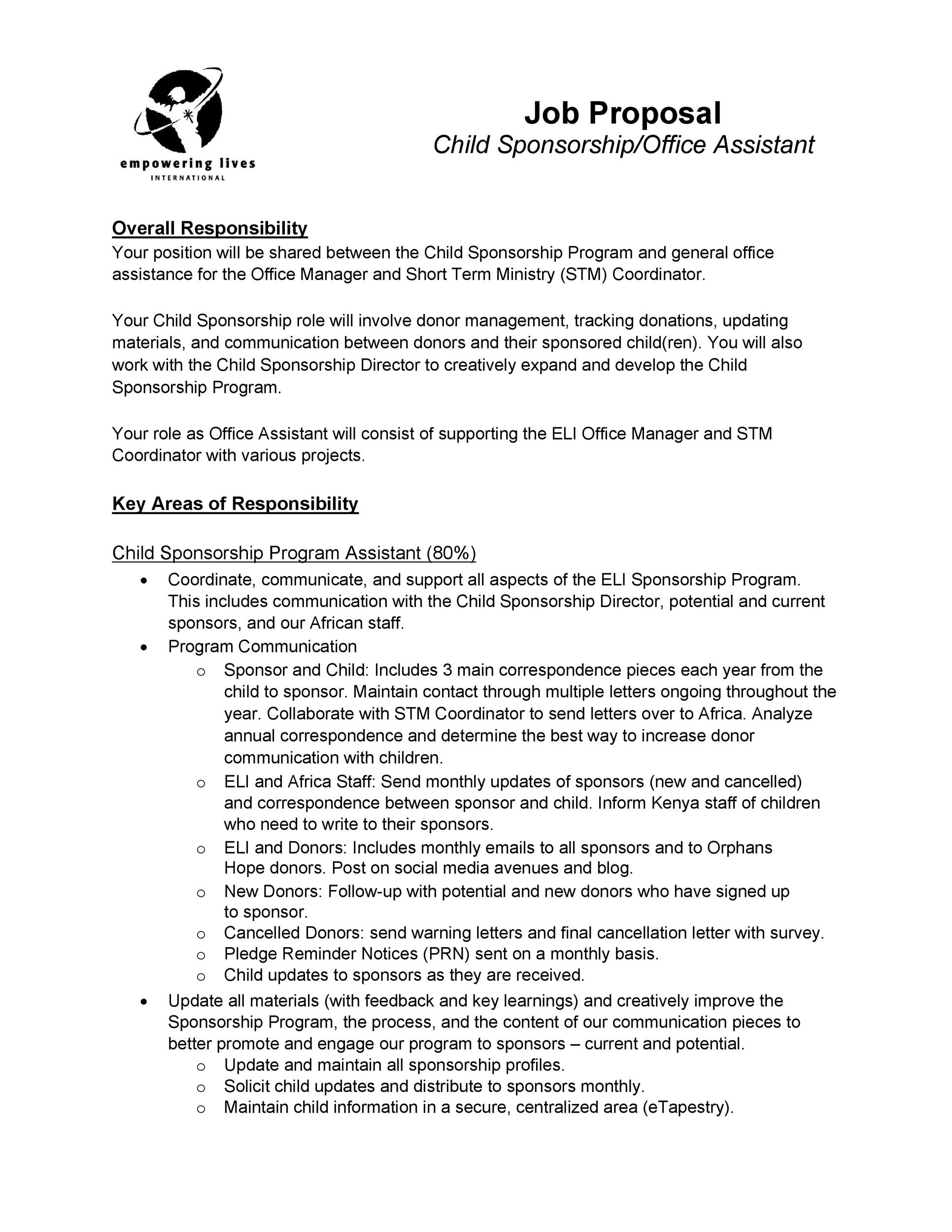 Free Job Proposal Template 18