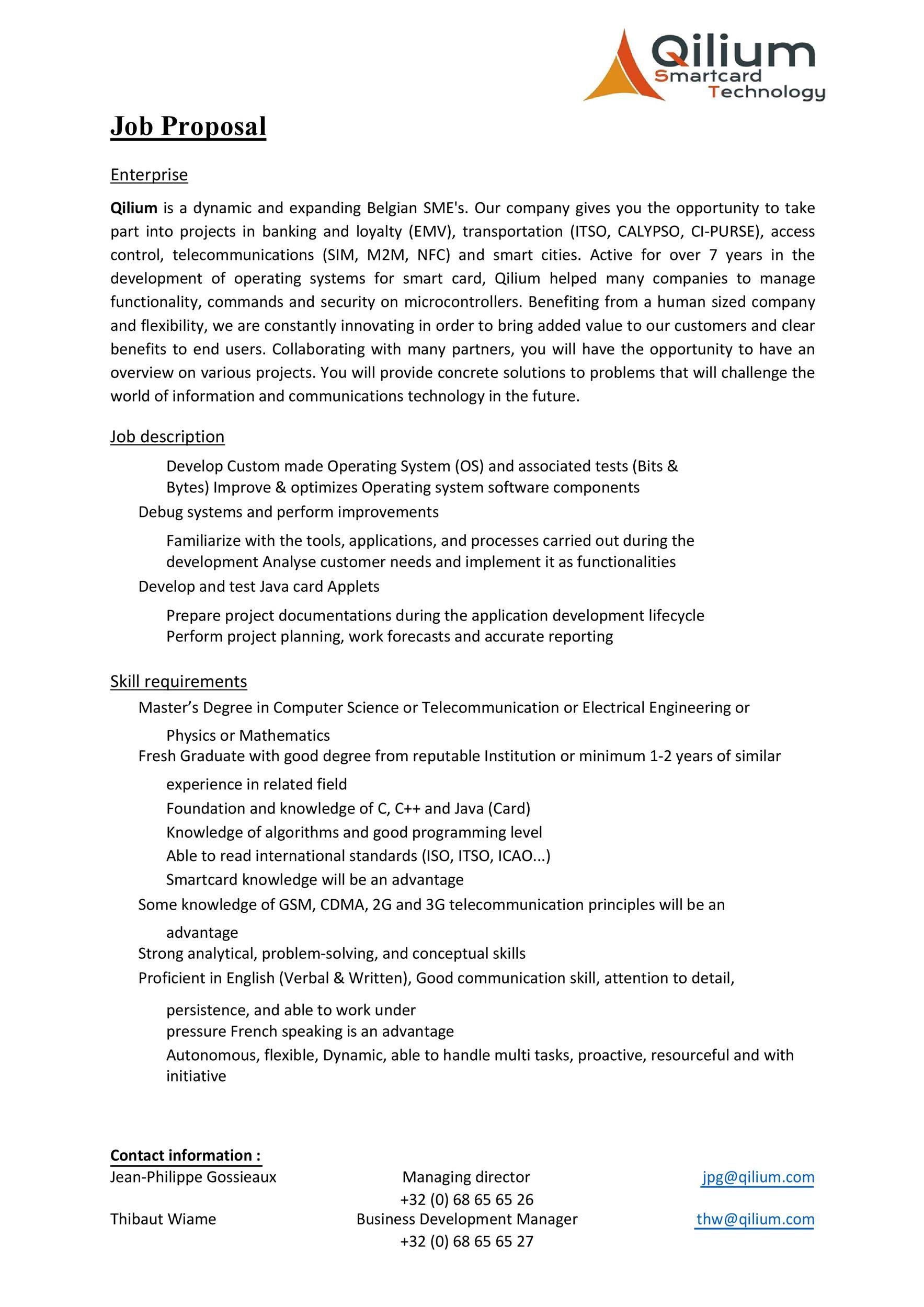 Free Job Proposal Template 25