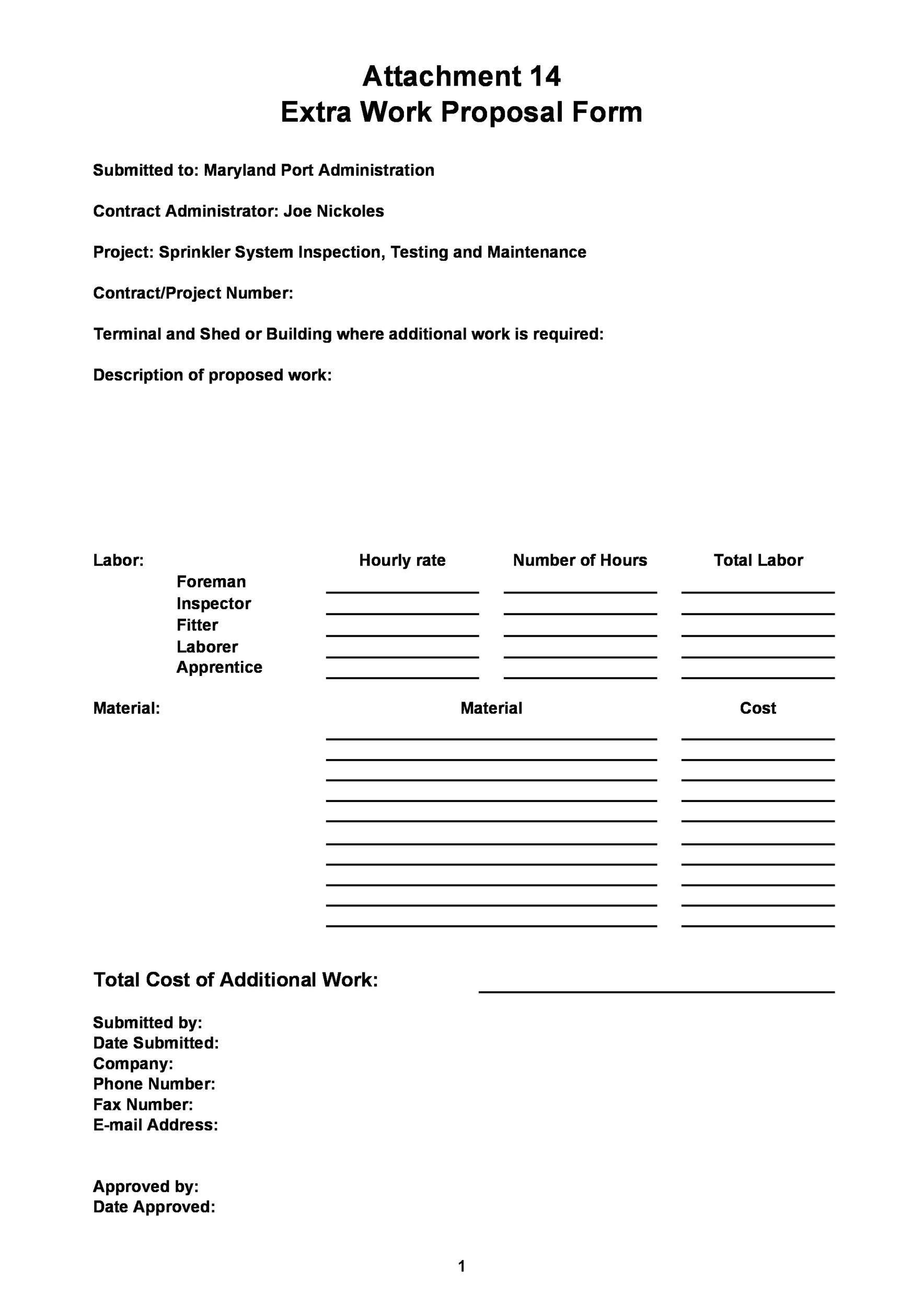 Free Job Proposal Template 26
