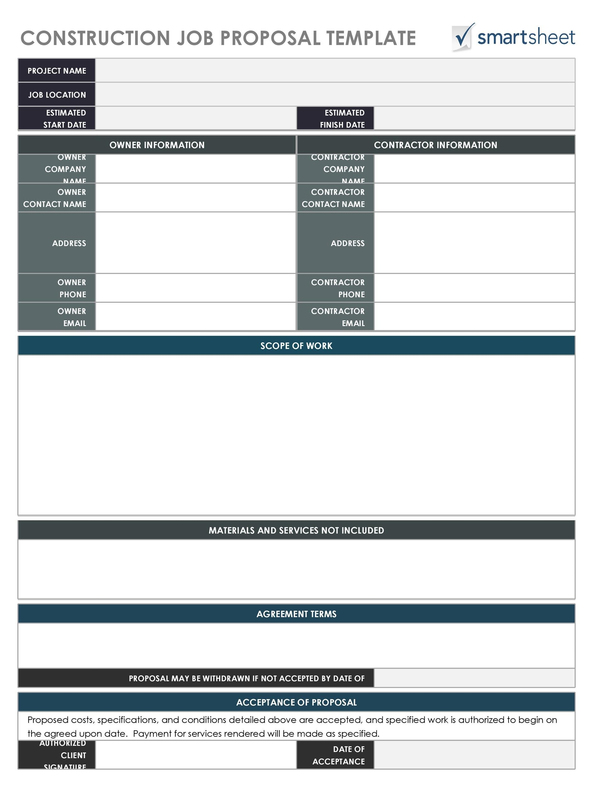Free Job Proposal Template 30