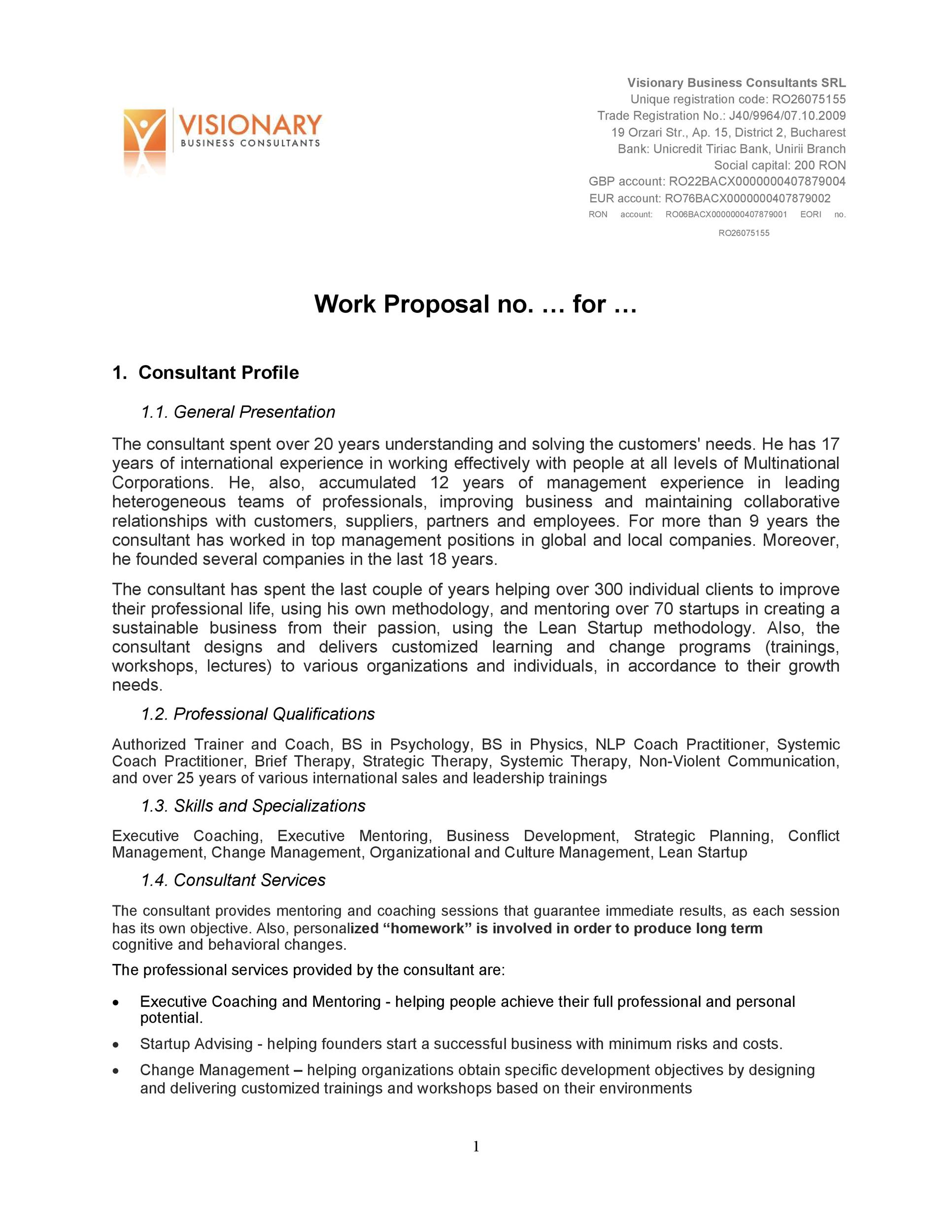 Free Job Proposal Template 31