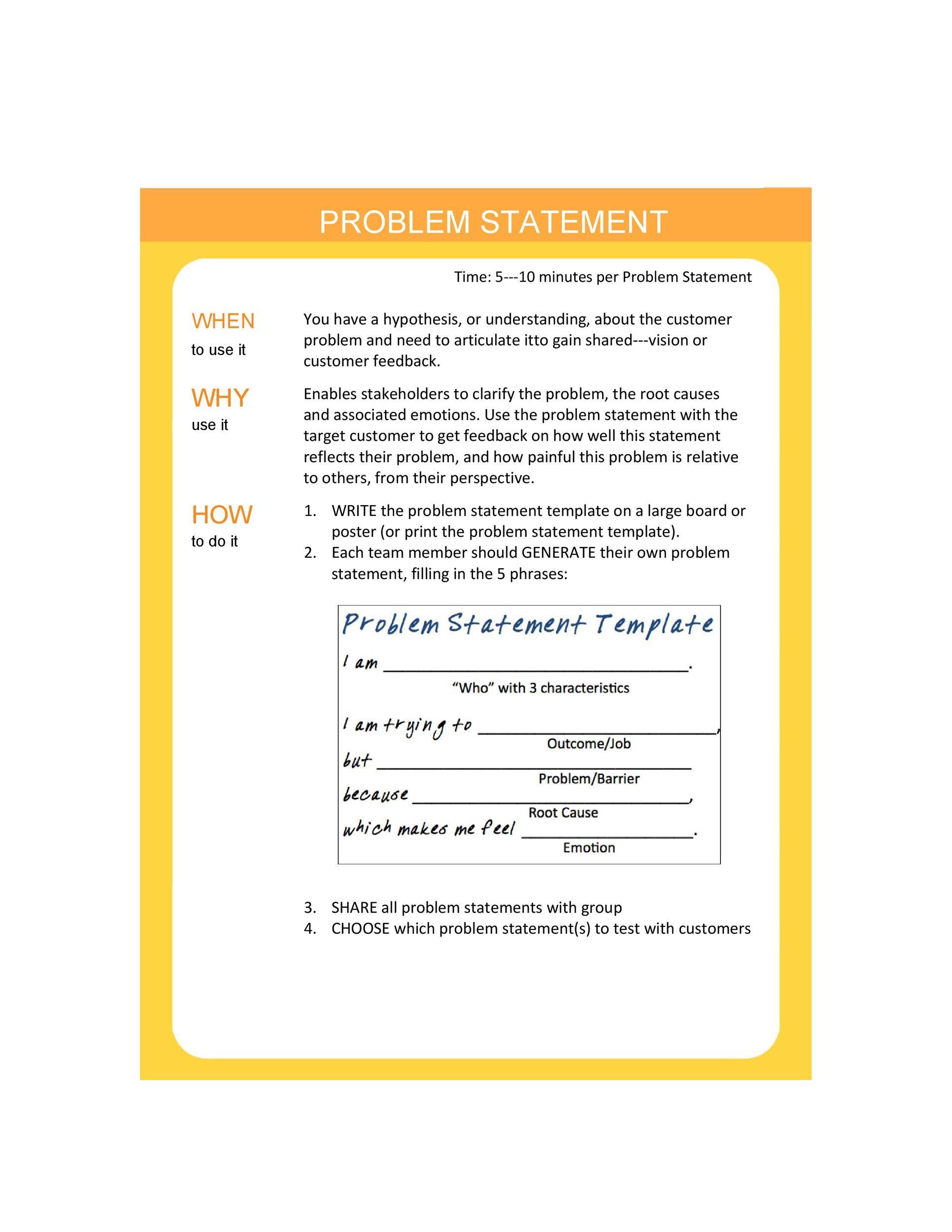 Free Problem Statement Template 02