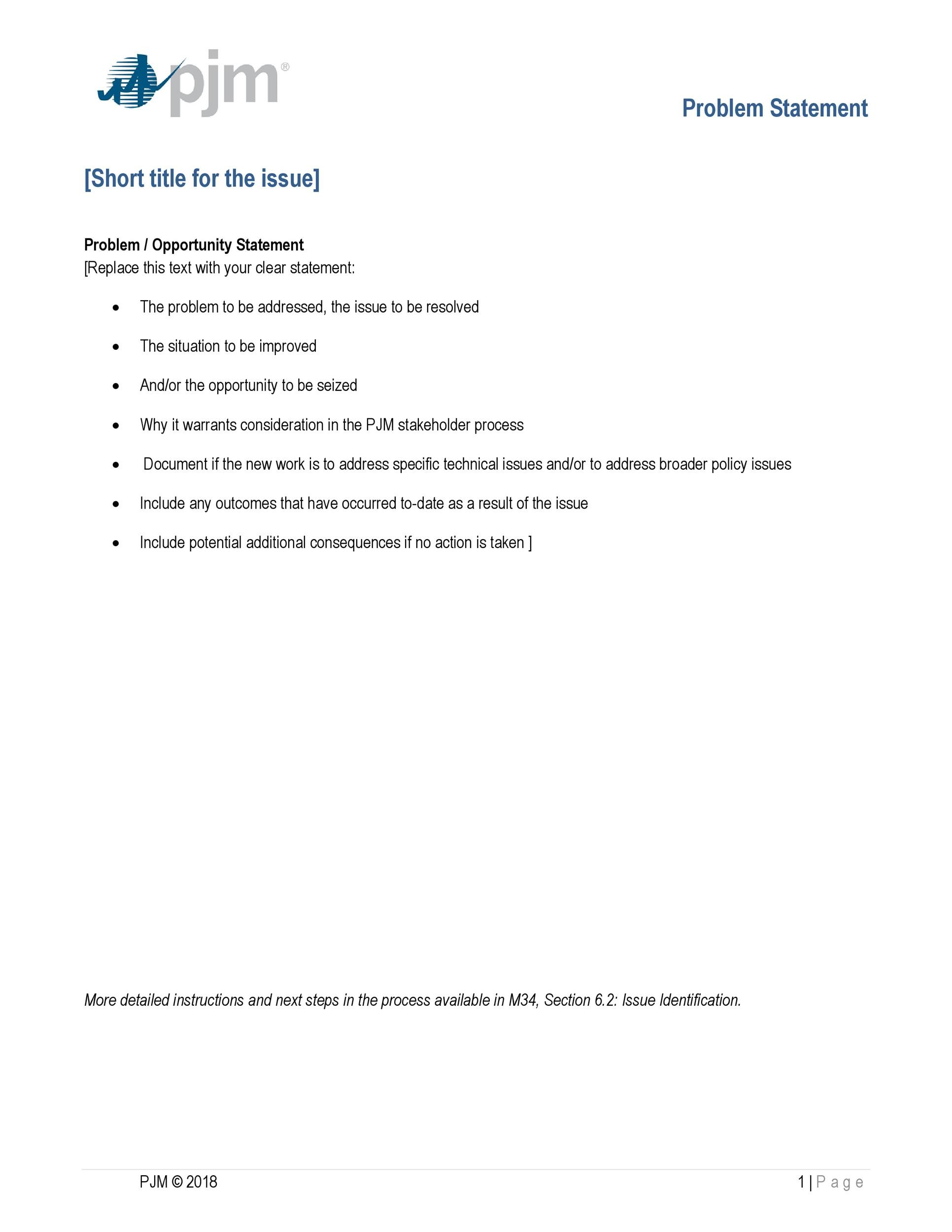 Free Problem Statement Template 05