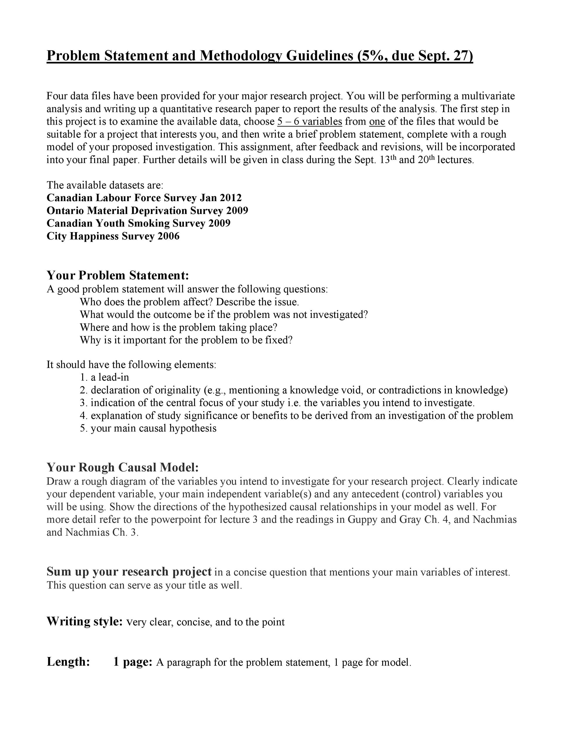 Free Problem Statement Template 13