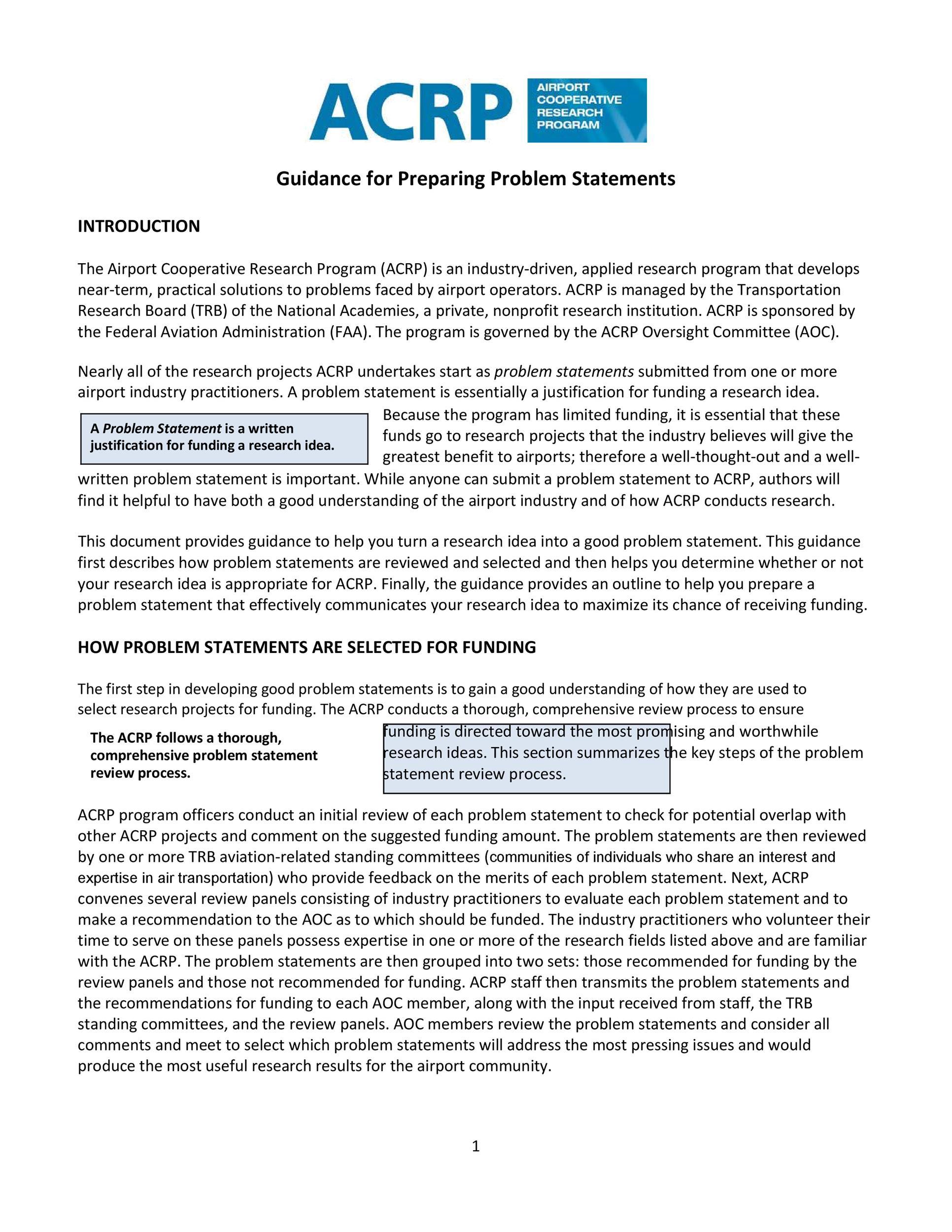 Free Problem Statement Template 18