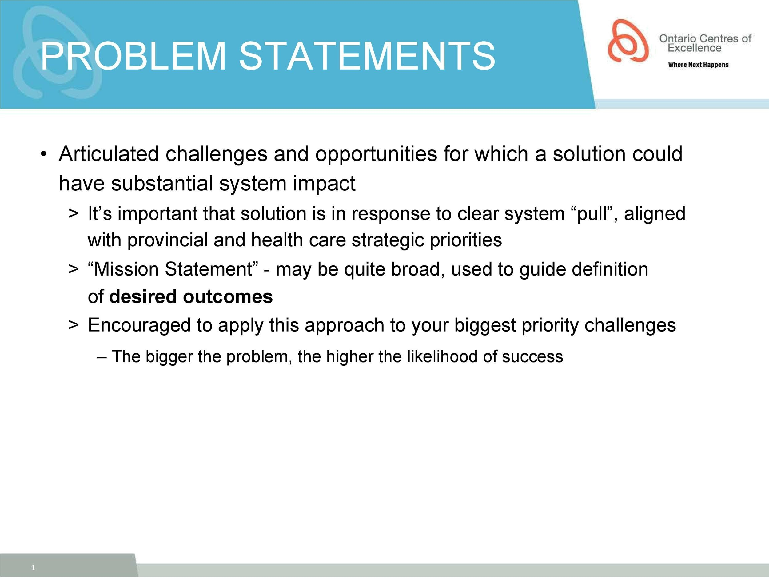 Free Problem Statement Template 24