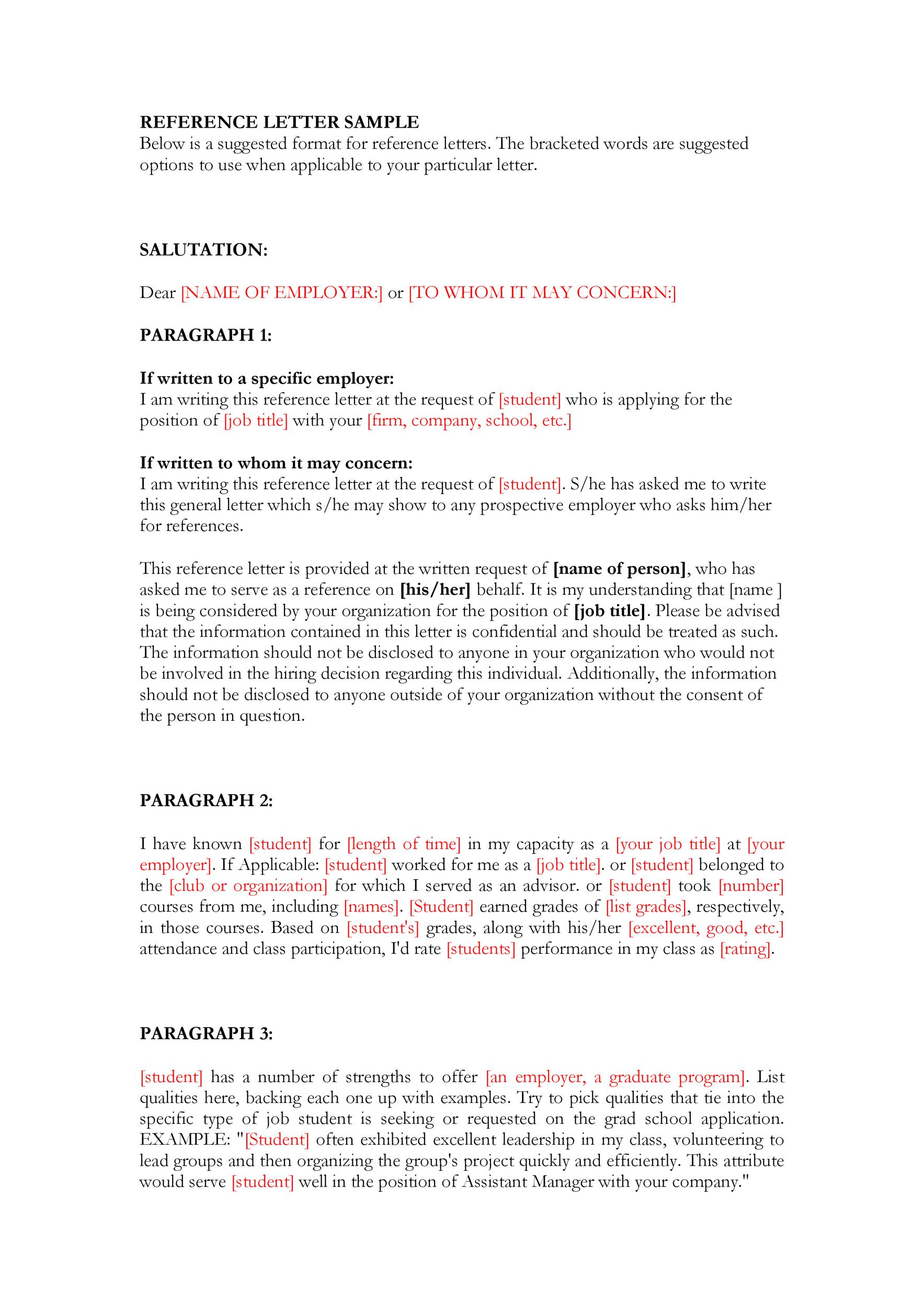 Free Recommendation Letter From Manager Template 14