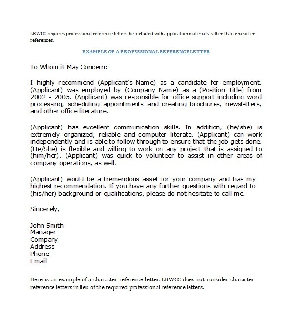Free Recommendation Letter From Manager Template 15