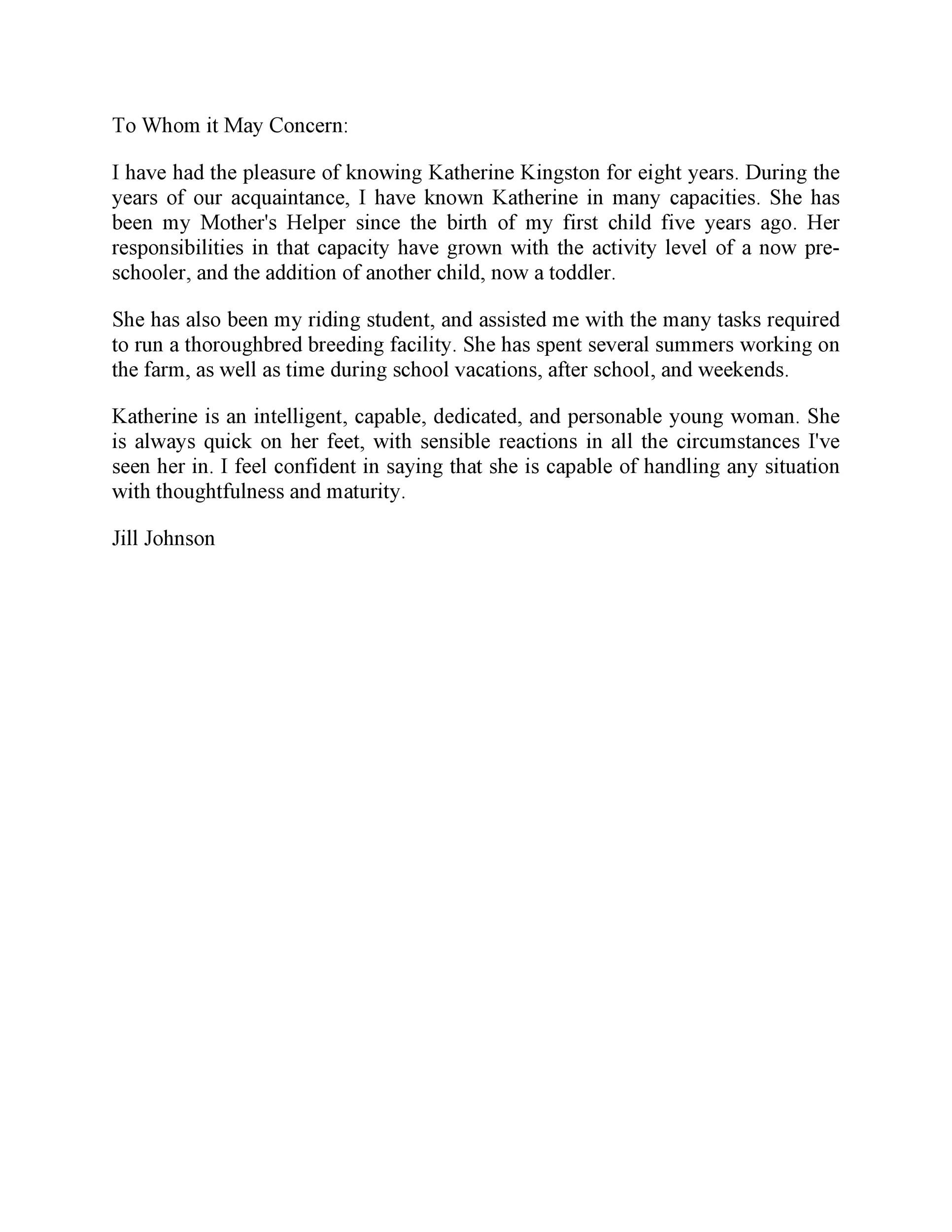 Free Recommendation Letter From Manager Template 23