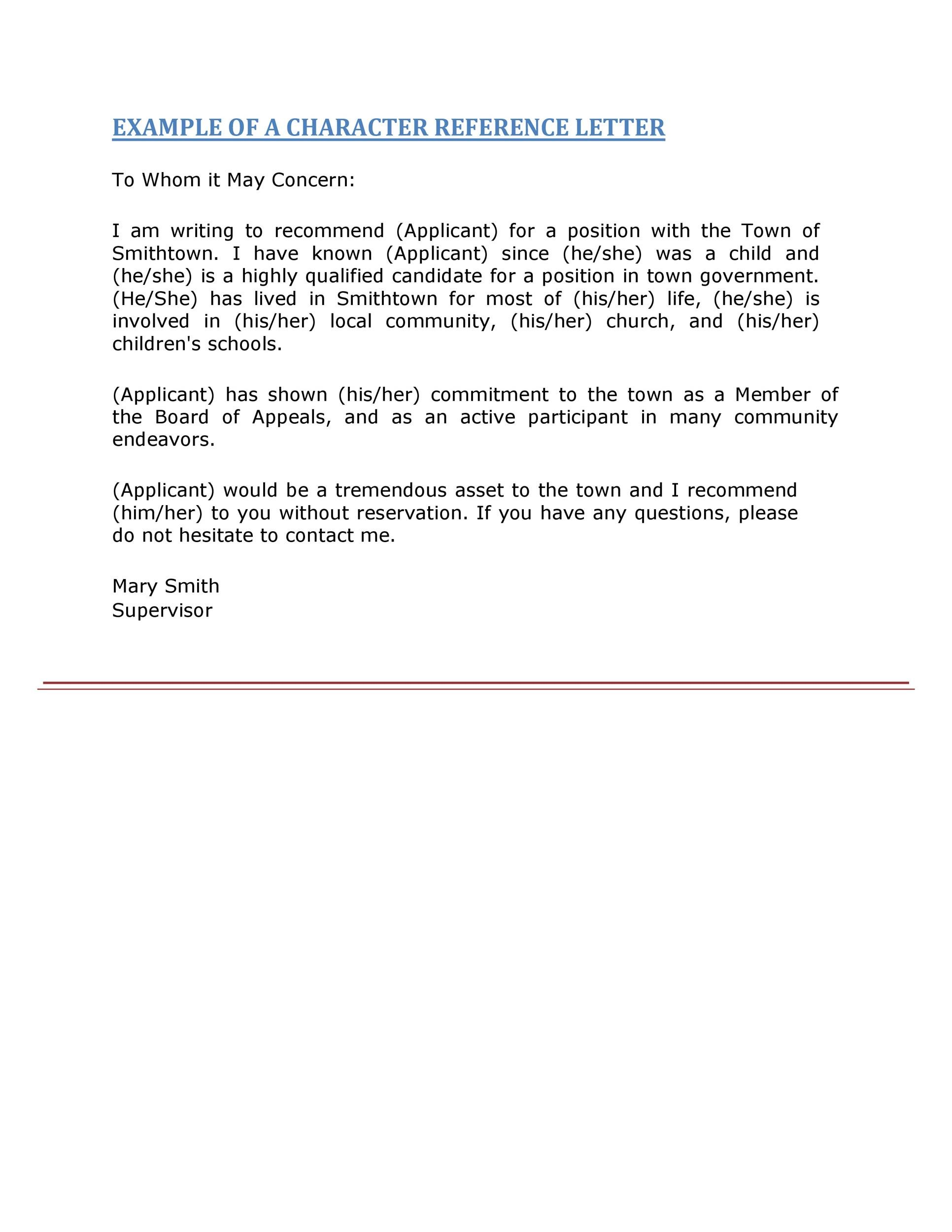 Free Recommendation Letter From Manager Template 33