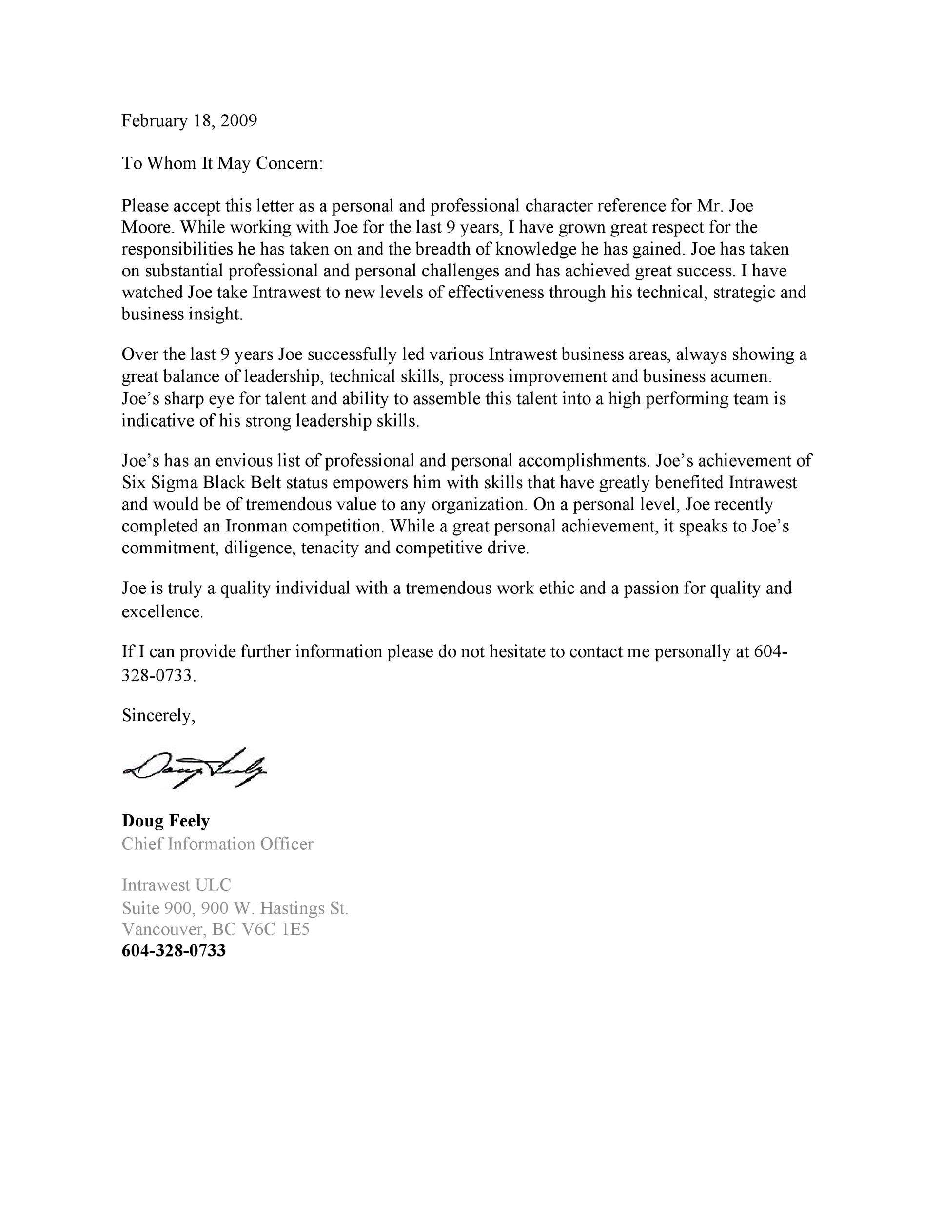 Free Recommendation Letter From Manager Template 49