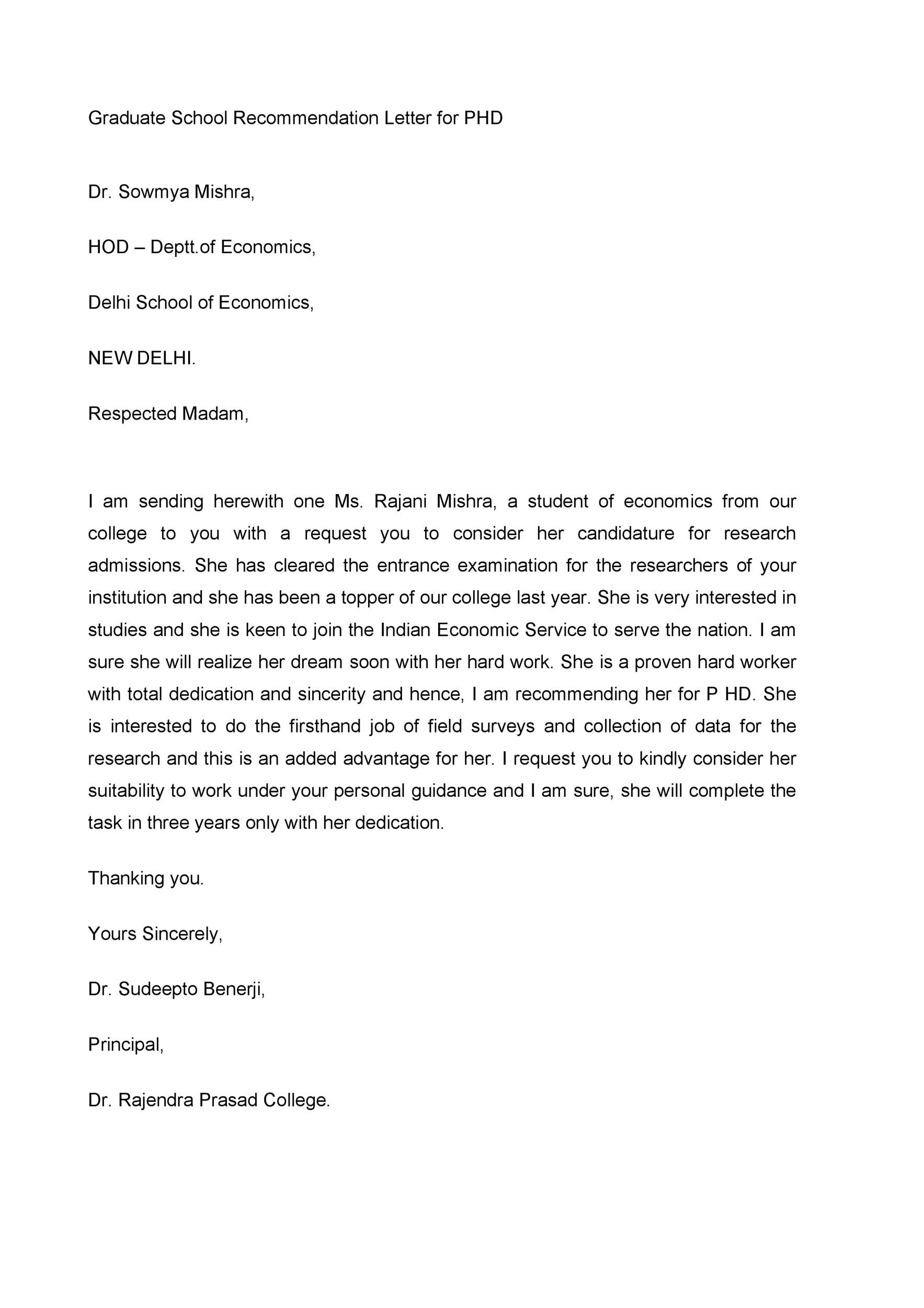 Free Recommendation Letter From Teacher Template 04