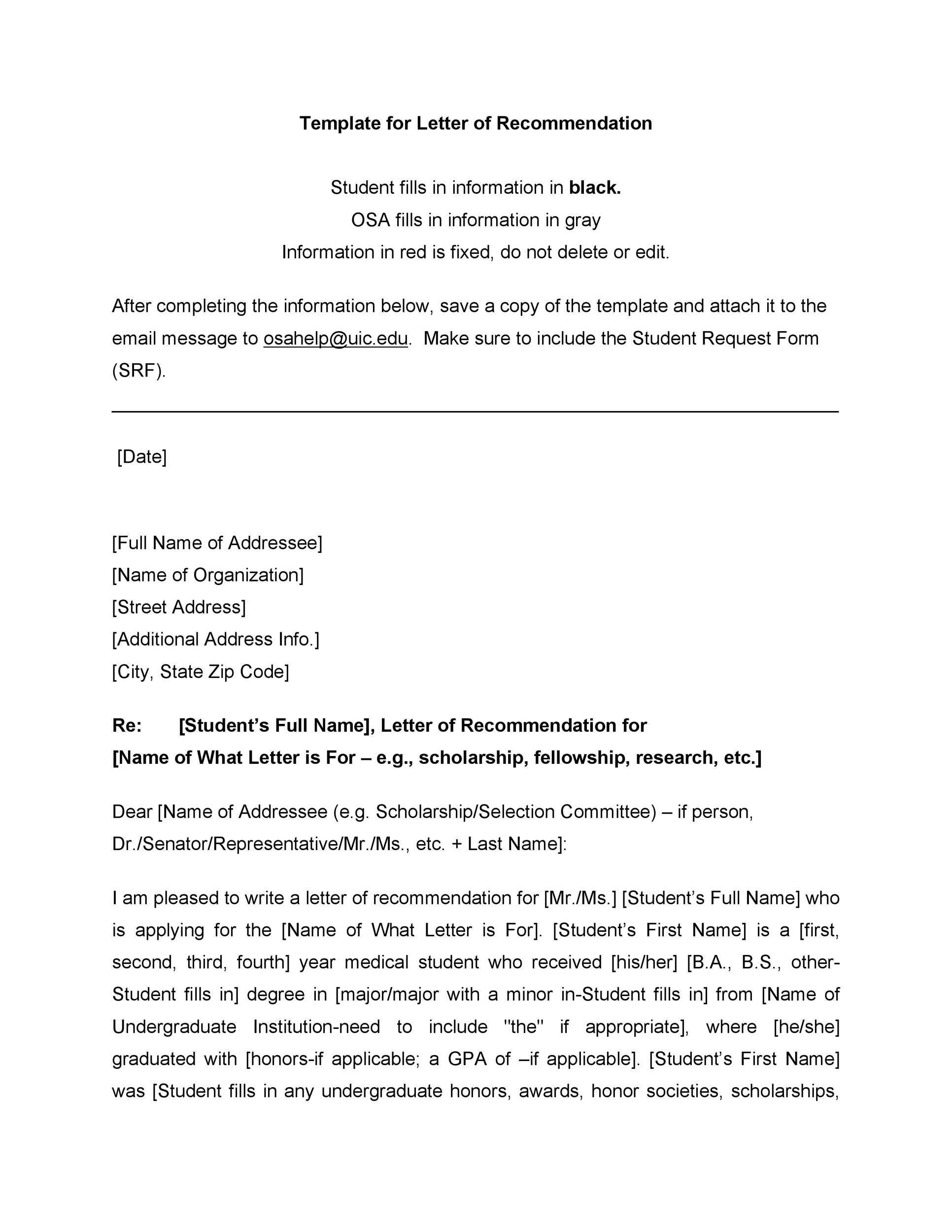 Recommendation Letters For Student From Teacher