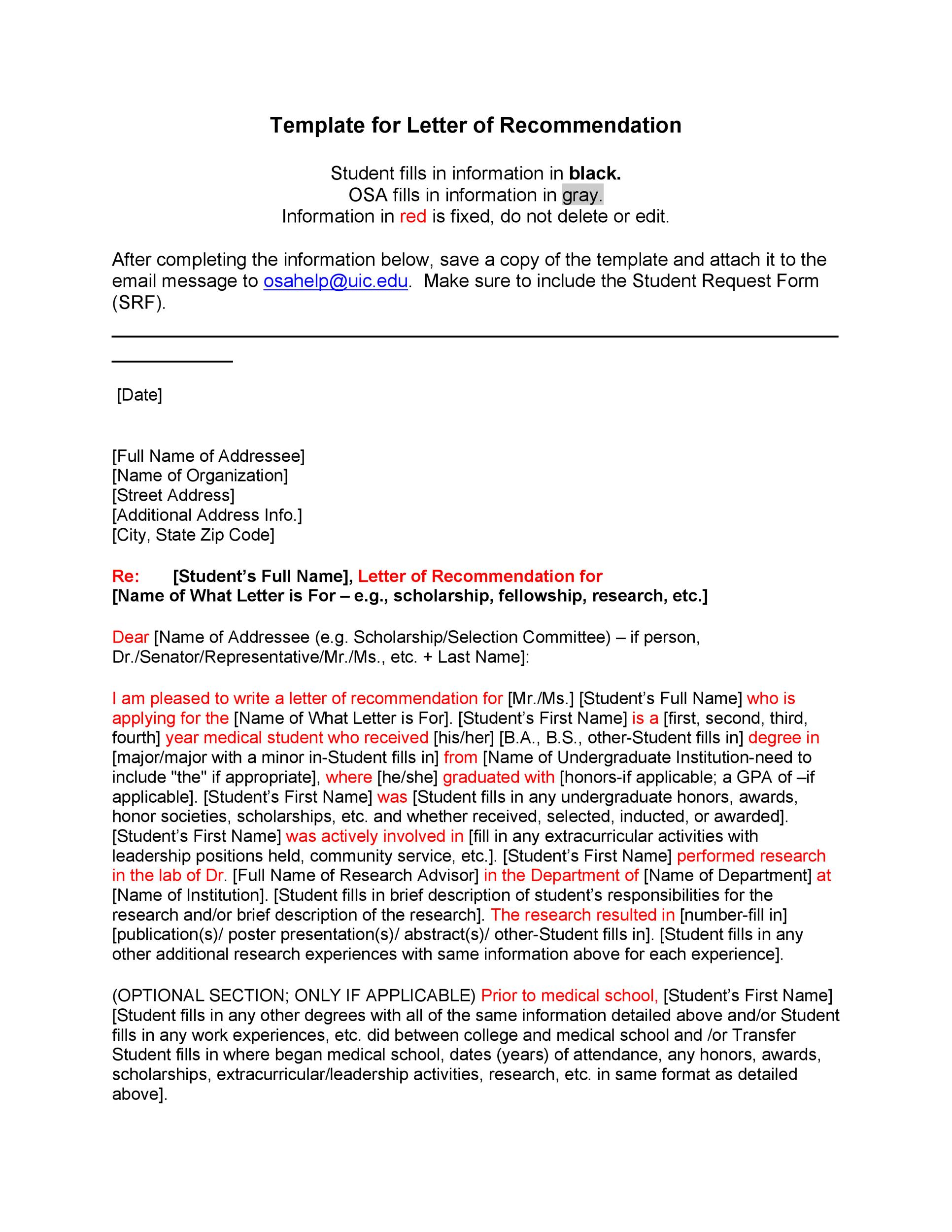 Free Recommendation Letter From Teacher Template 18