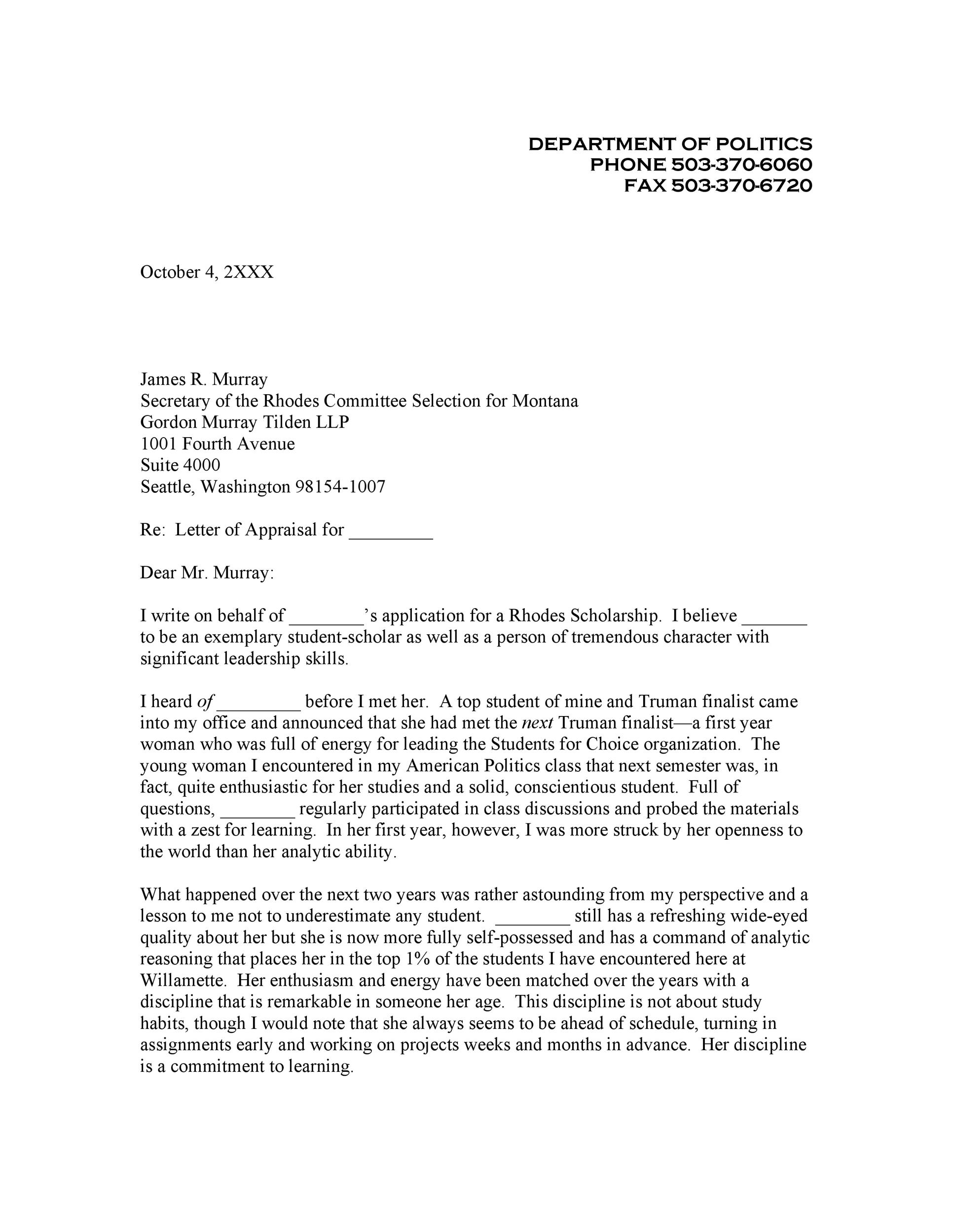Free Recommendation Letter From Teacher Template 24