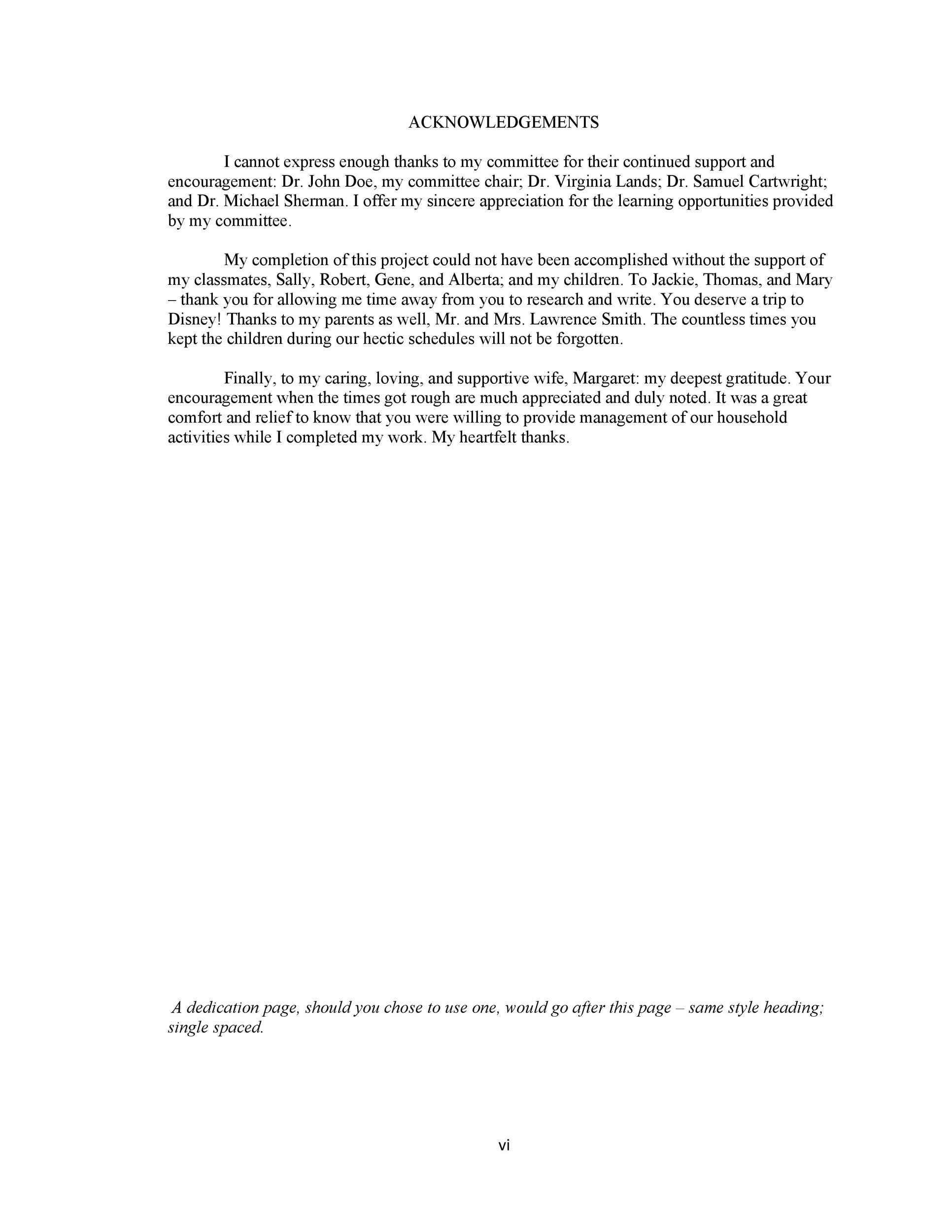 Free acknowledgement sample 03