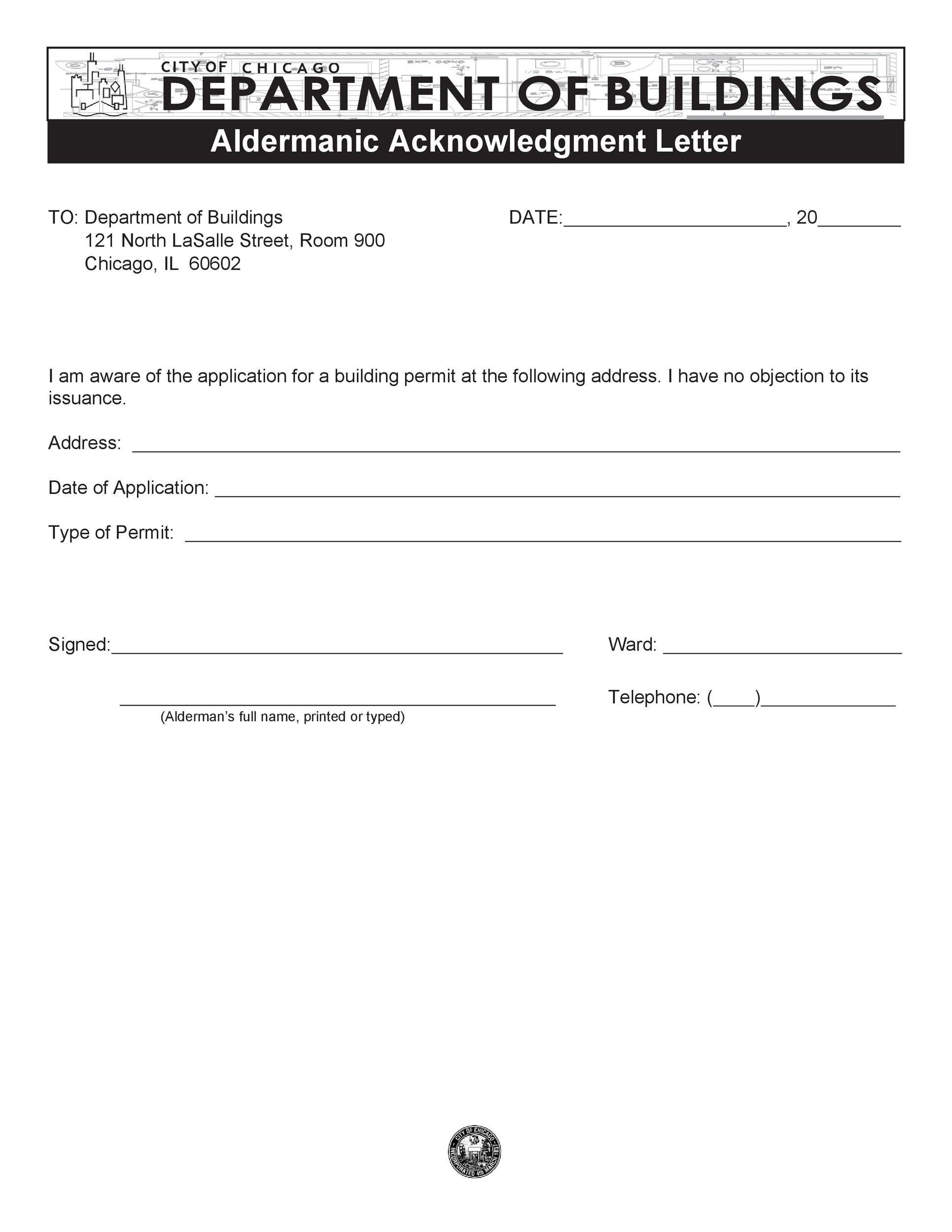 Free acknowledgement sample 08