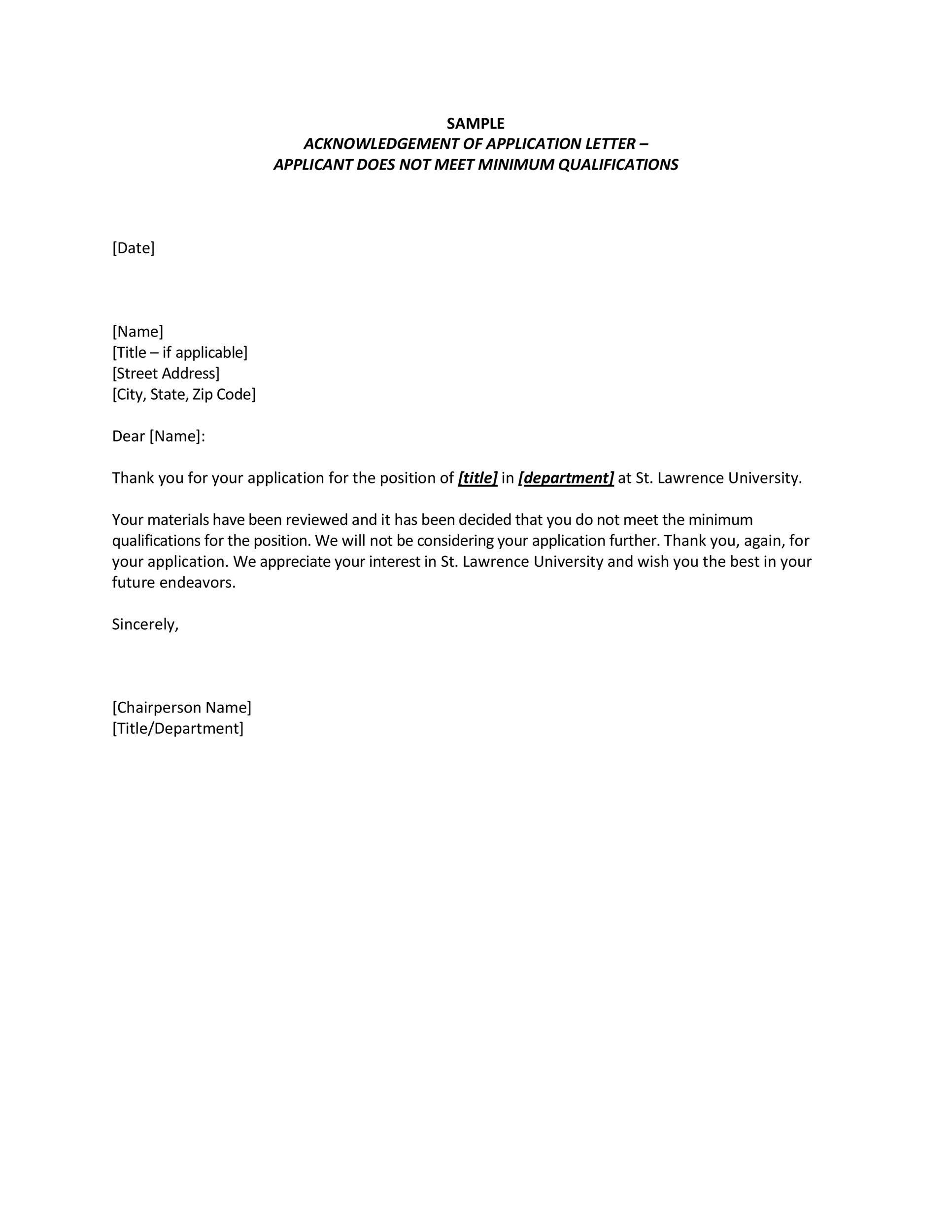 Free acknowledgement sample 28