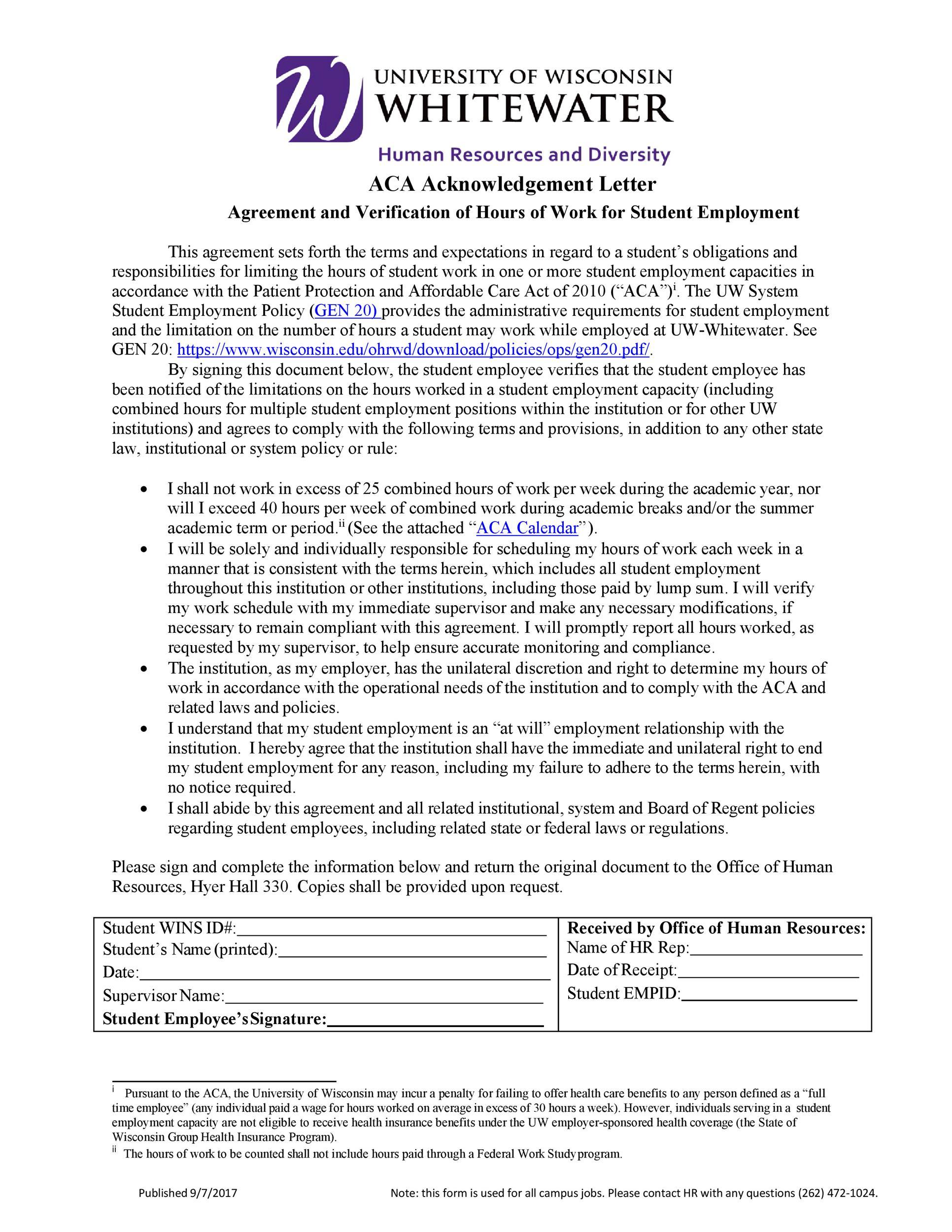 Free acknowledgement sample 34