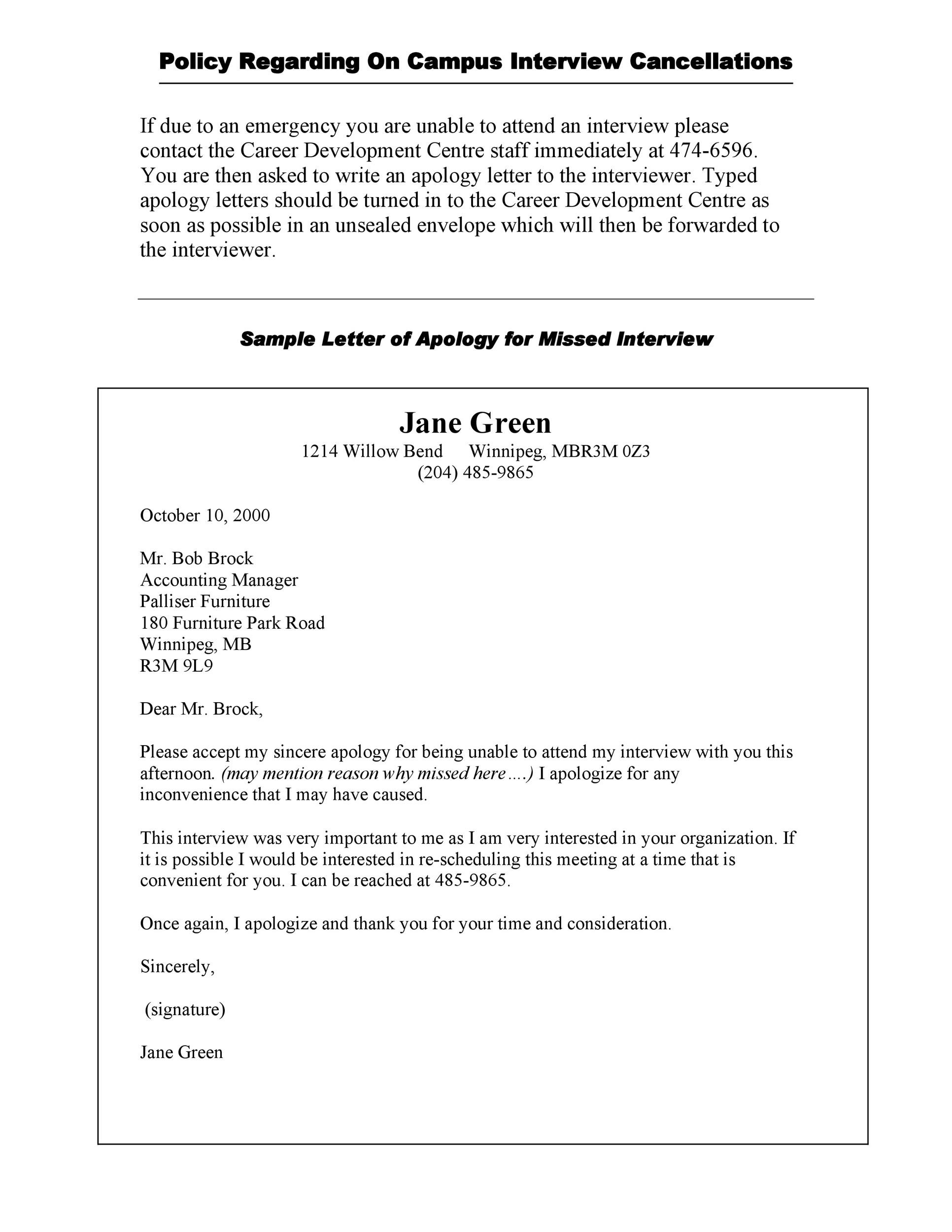 Free apology letter 14