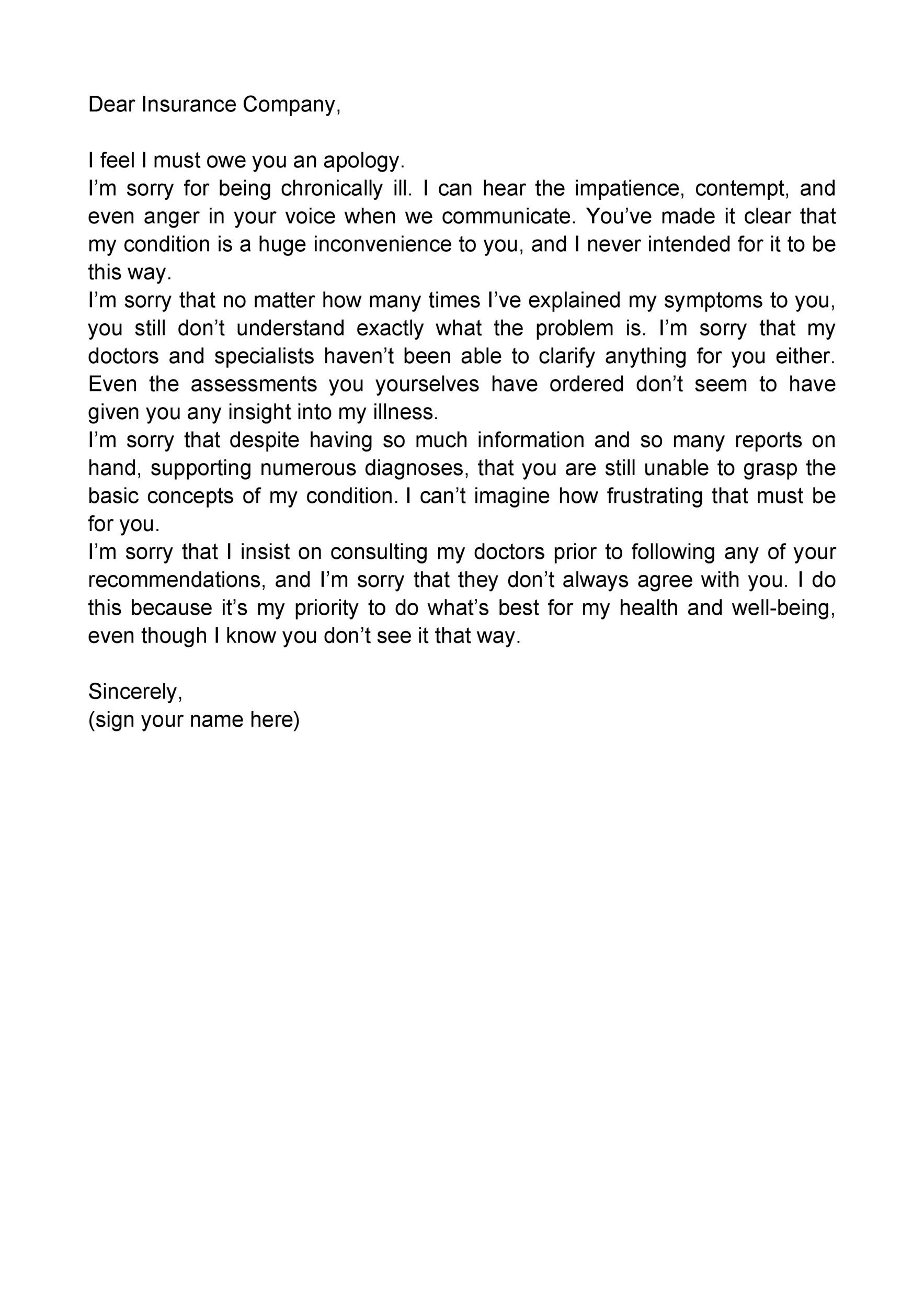 Free apology letter 20