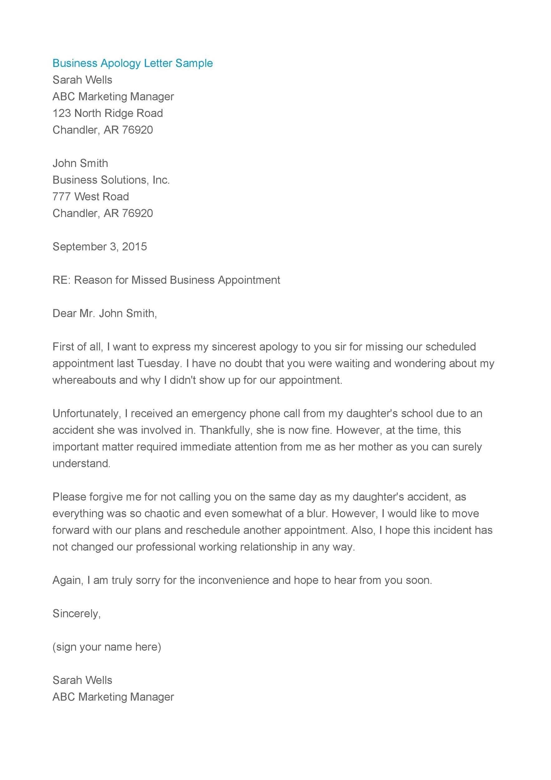 Apology Letter To Boss from templatelab.com