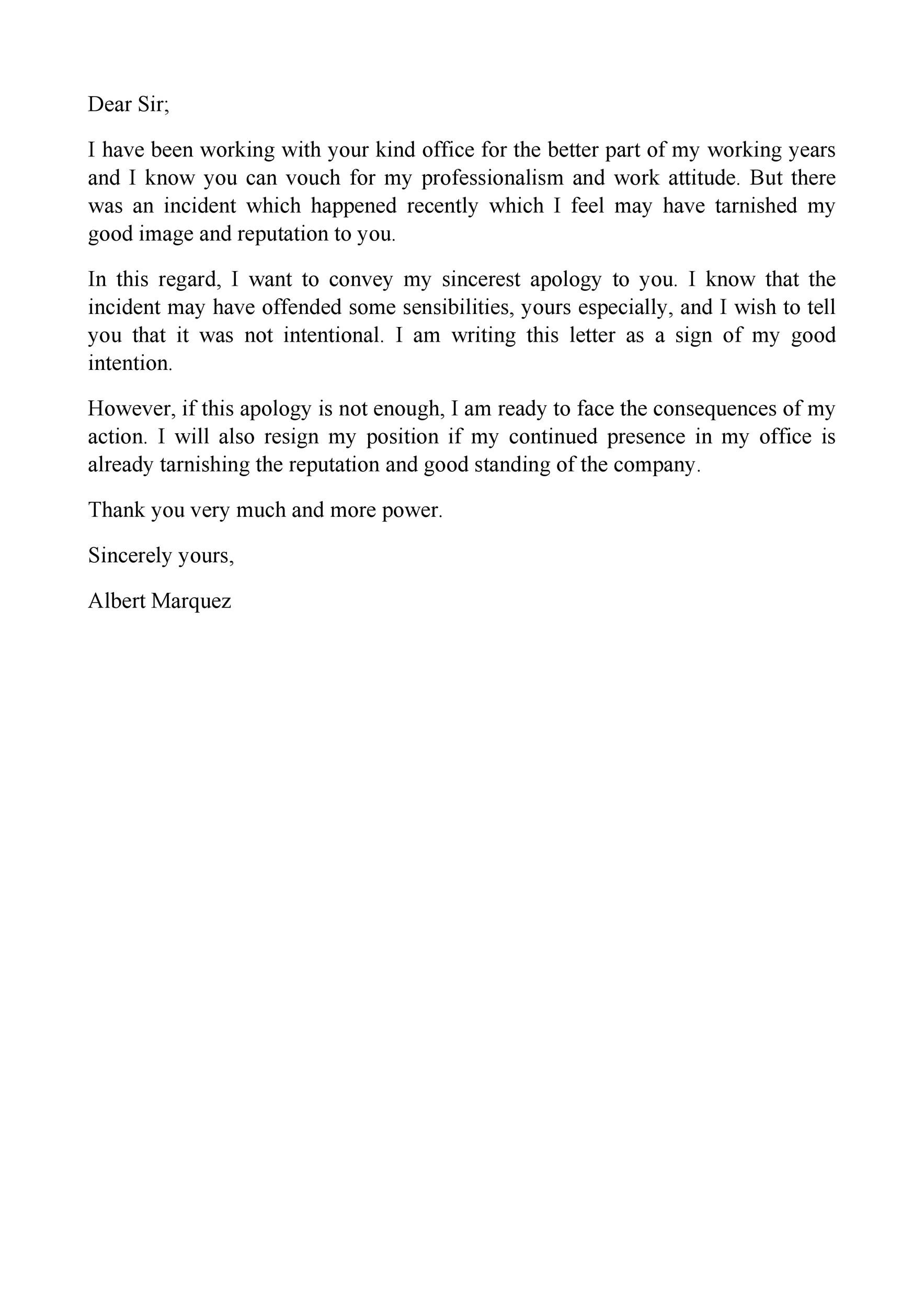Free apology letter 31