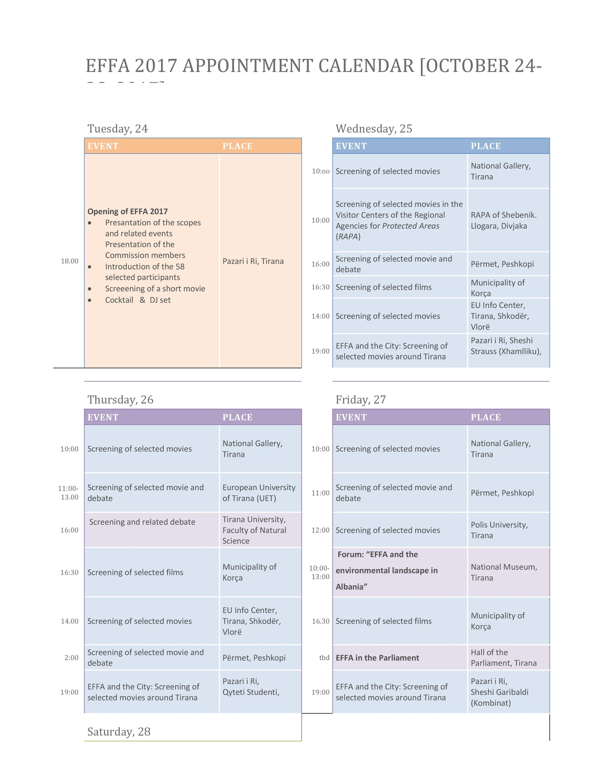 Free appointment schedule template 20