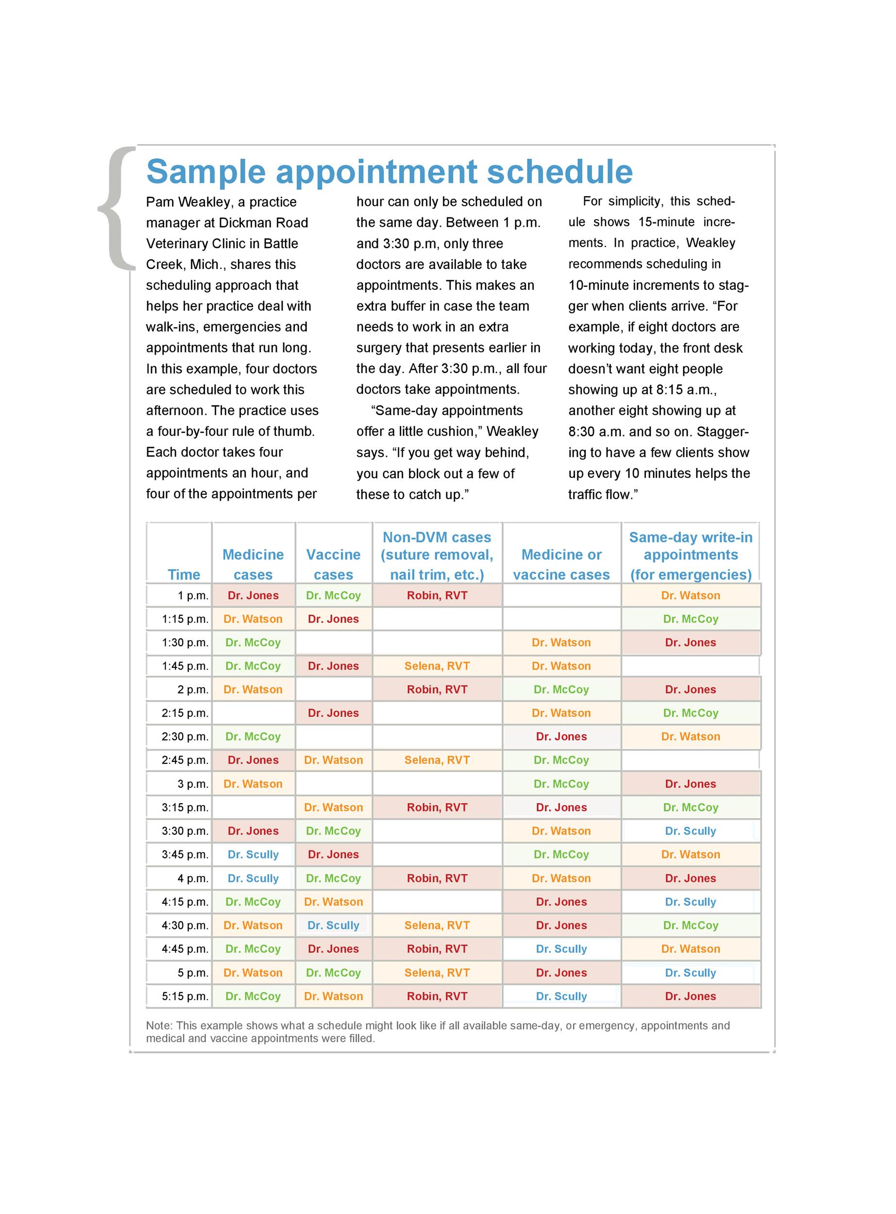 Free appointment schedule template 21