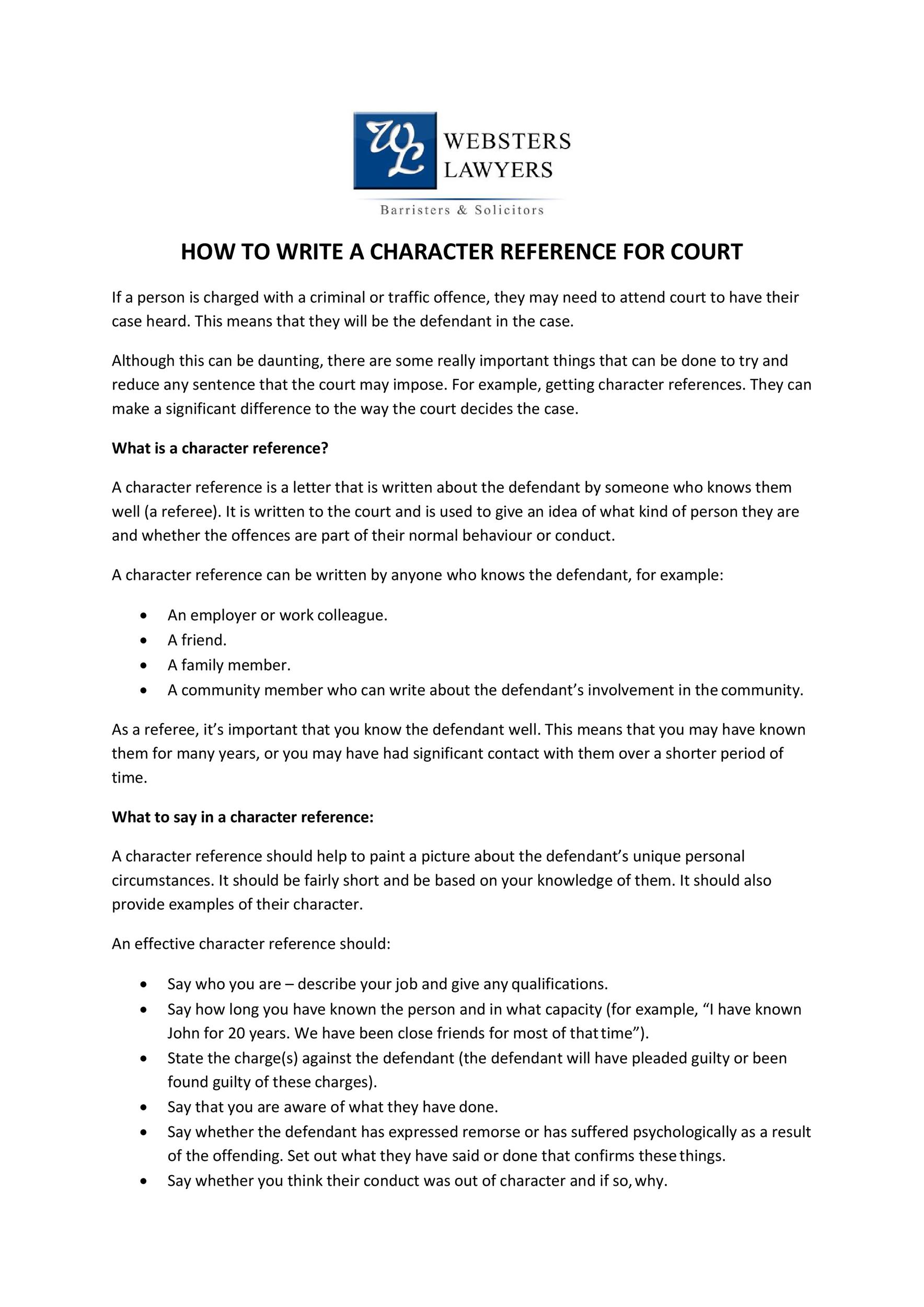 Free character witness letter 26