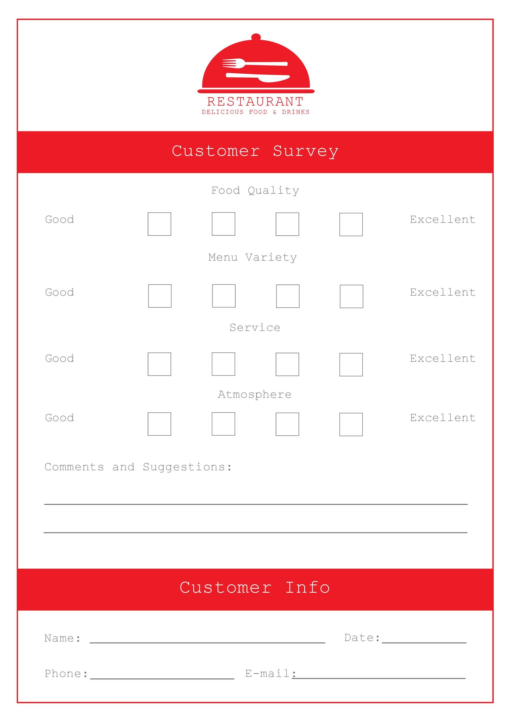Free comment card template 03