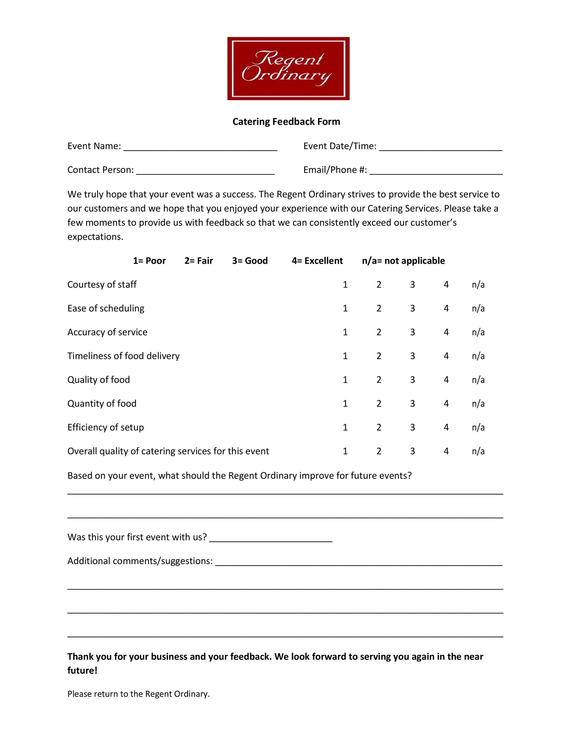 Free comment card template 11