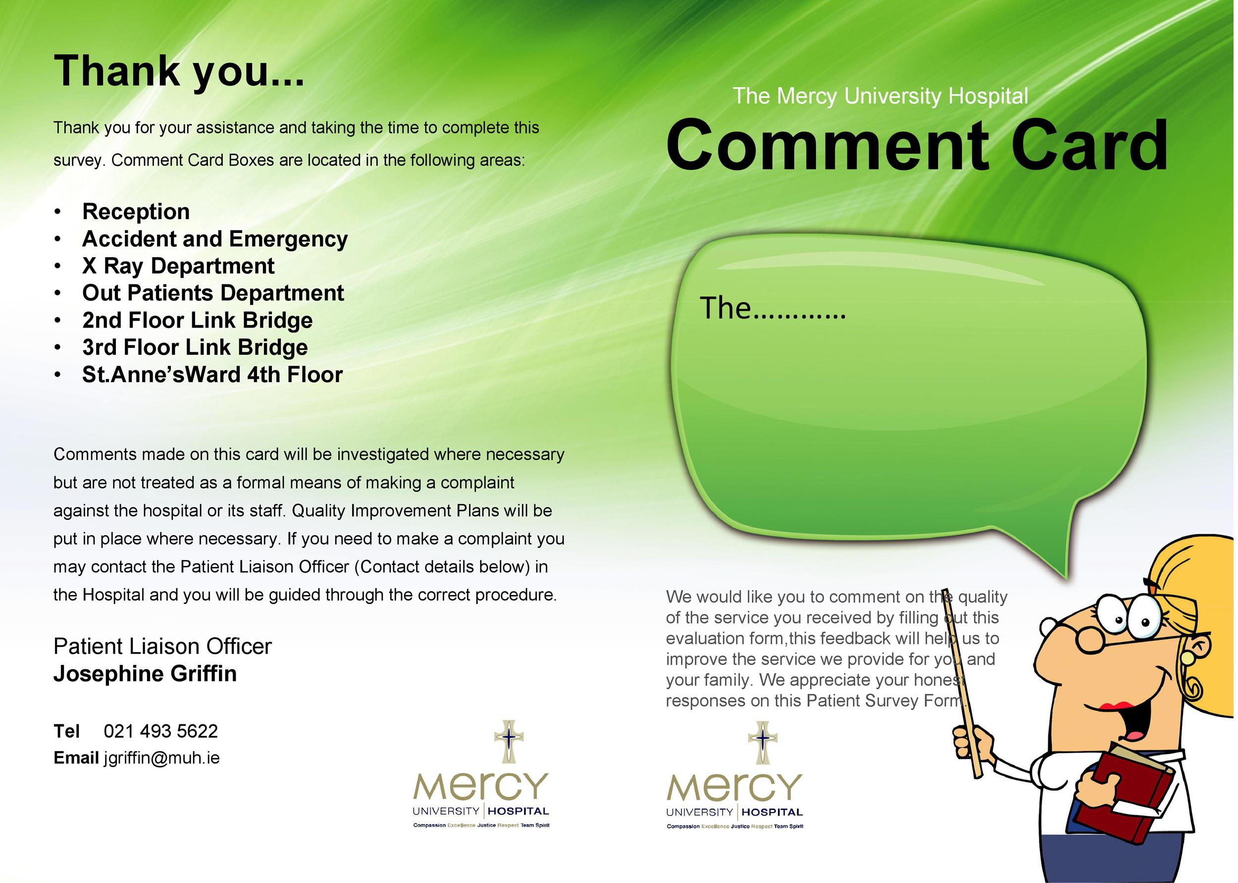 Free comment card template 15