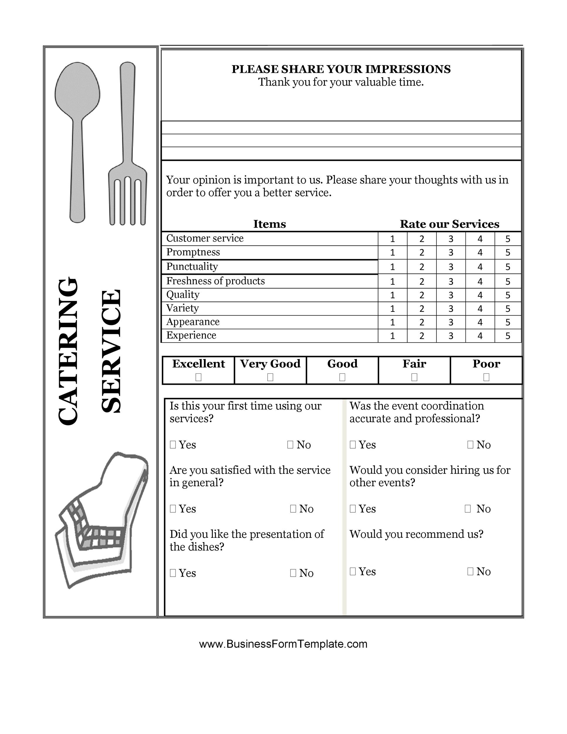 Free comment card template 31