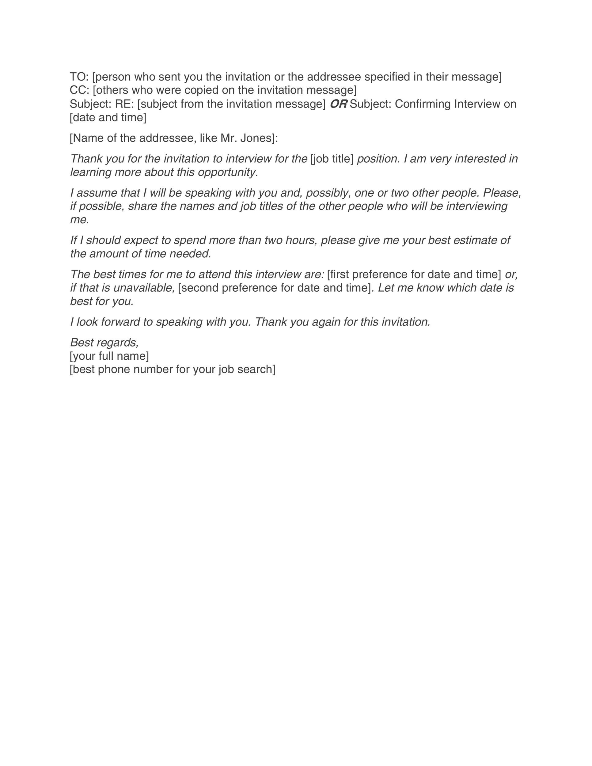 Free interview acceptance email 07