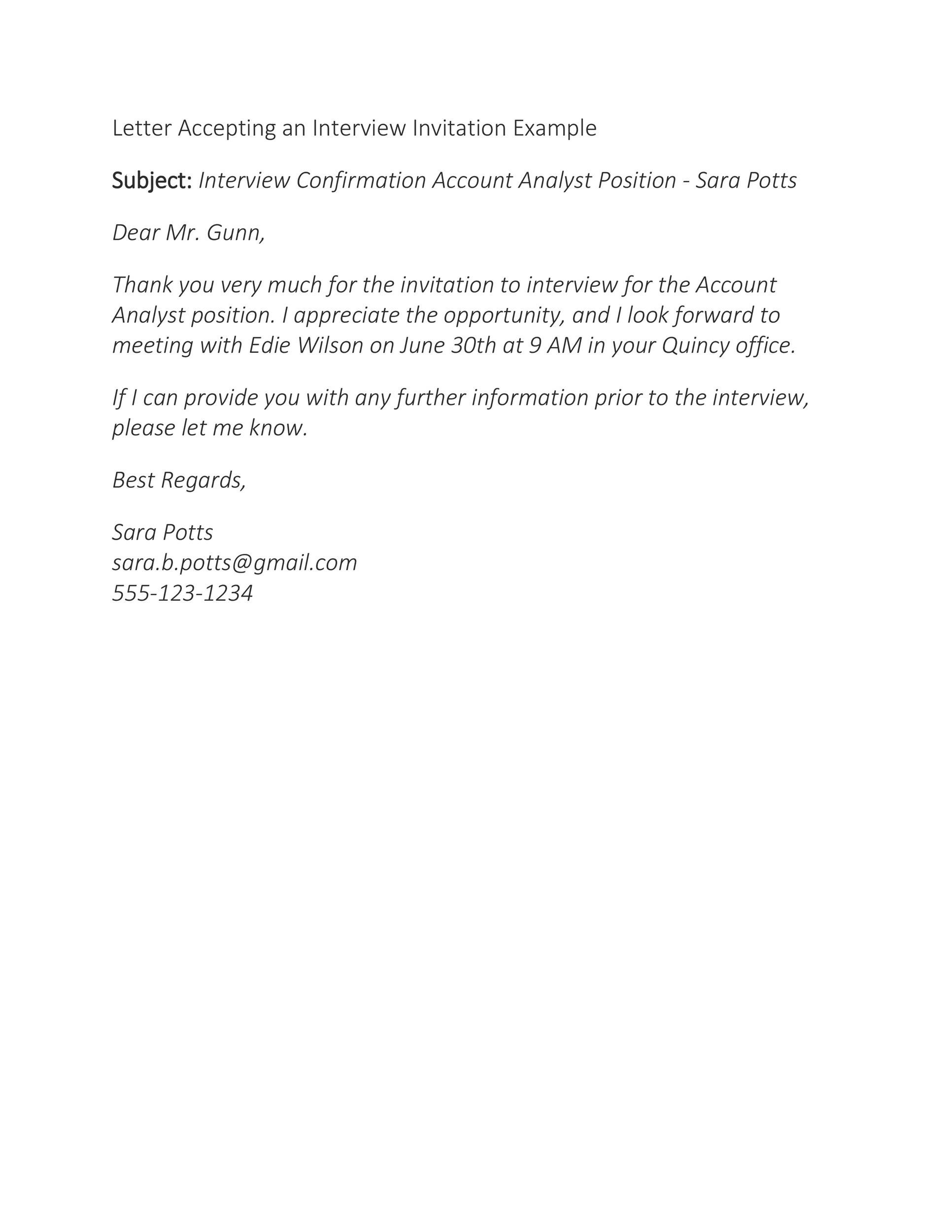 Free interview acceptance email 19