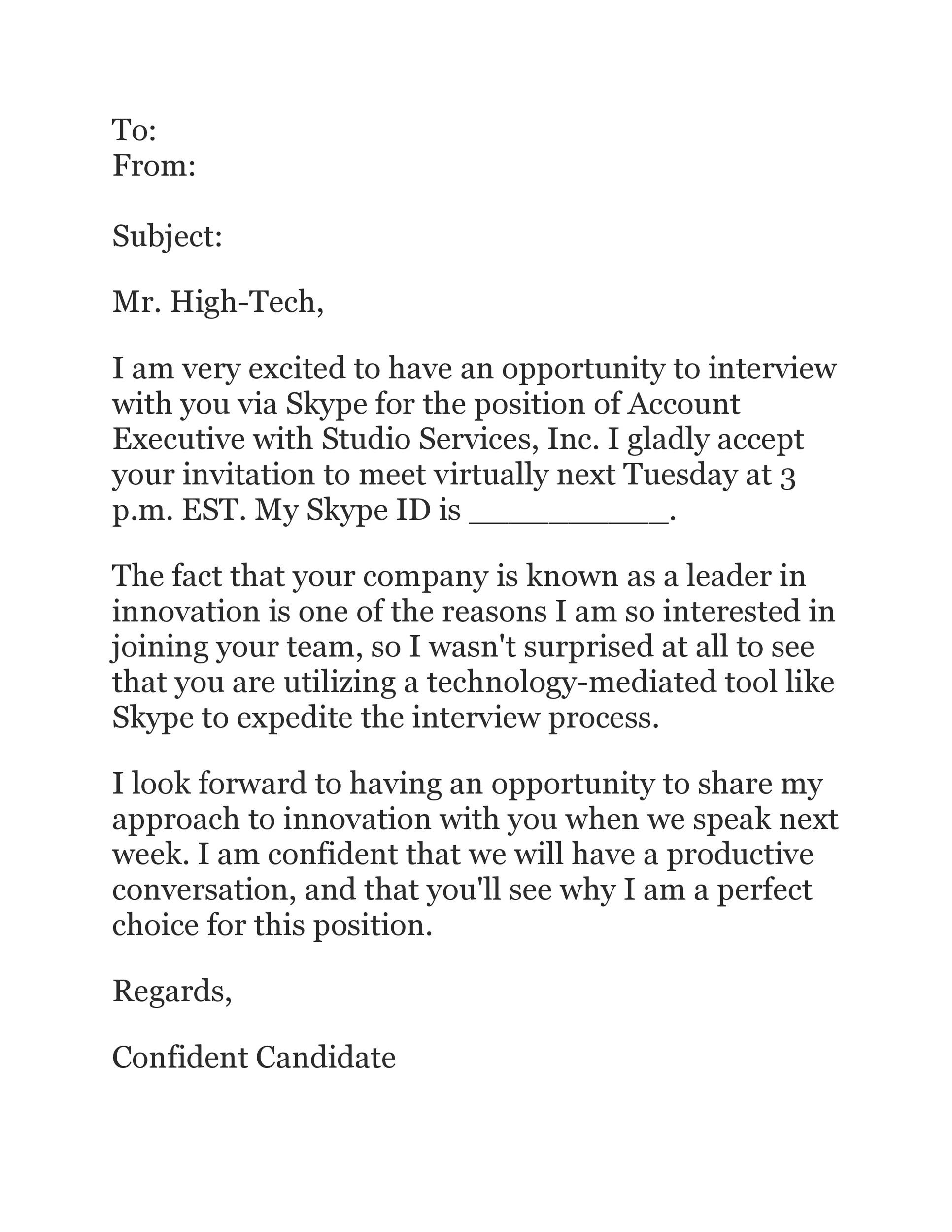 Free interview acceptance email 34