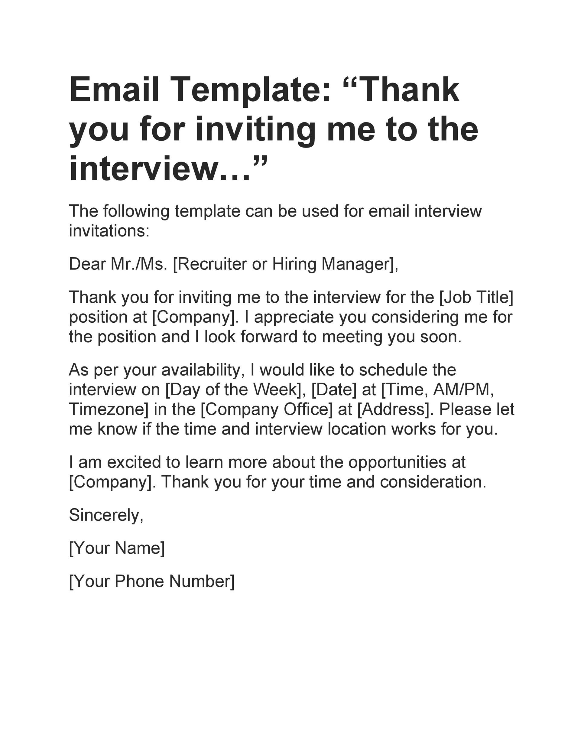 Free interview acceptance email 36