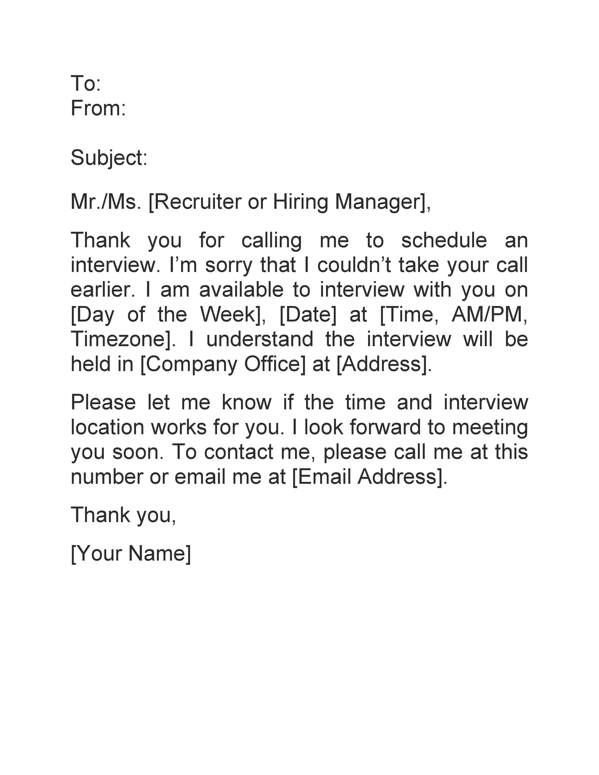 Free interview acceptance email 37