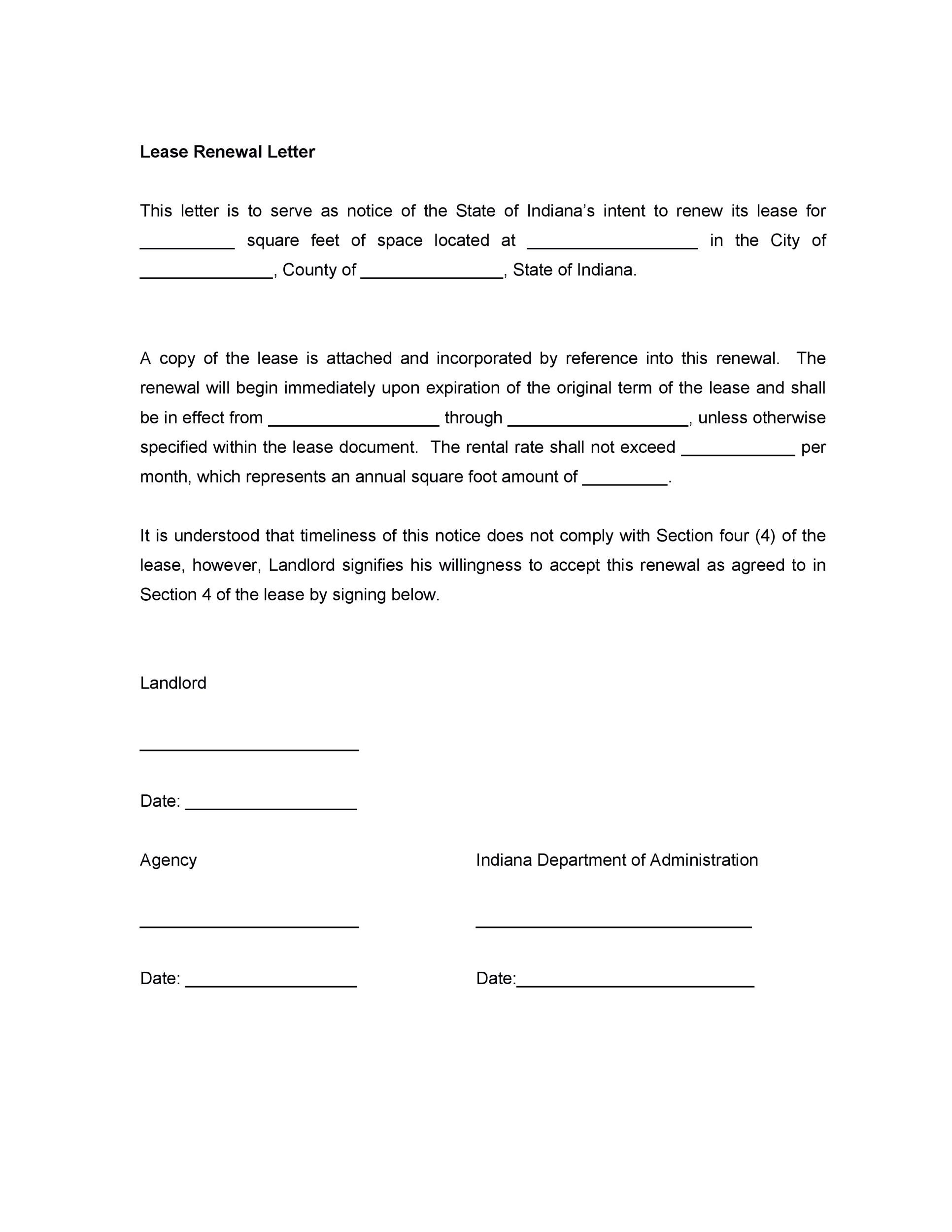 Free lease renewal letter 12