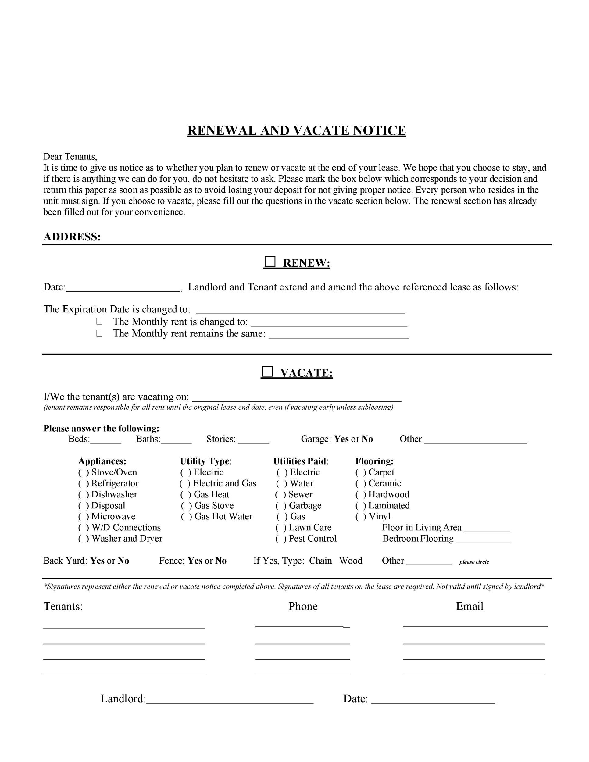 Free lease renewal letter 24