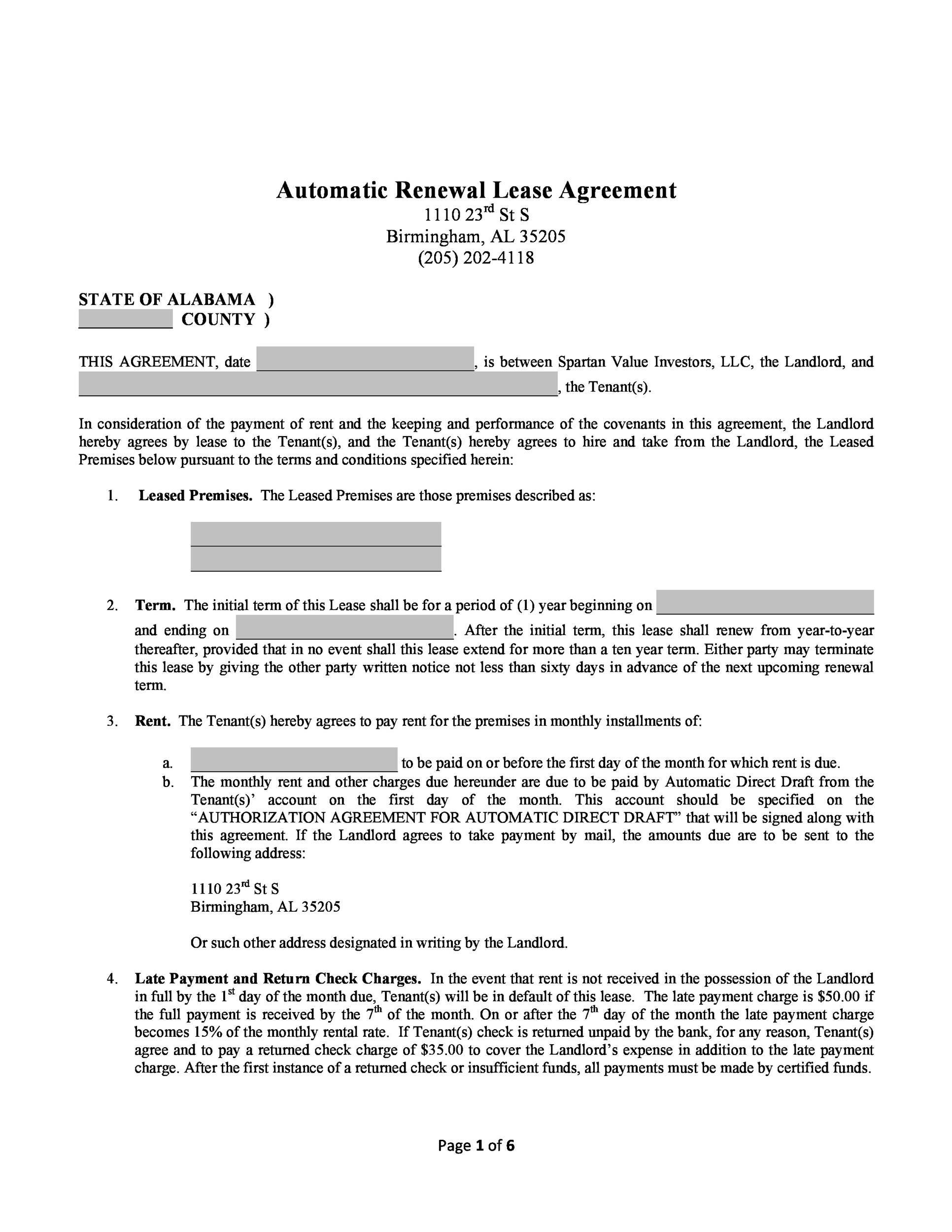 Free lease renewal letter 28