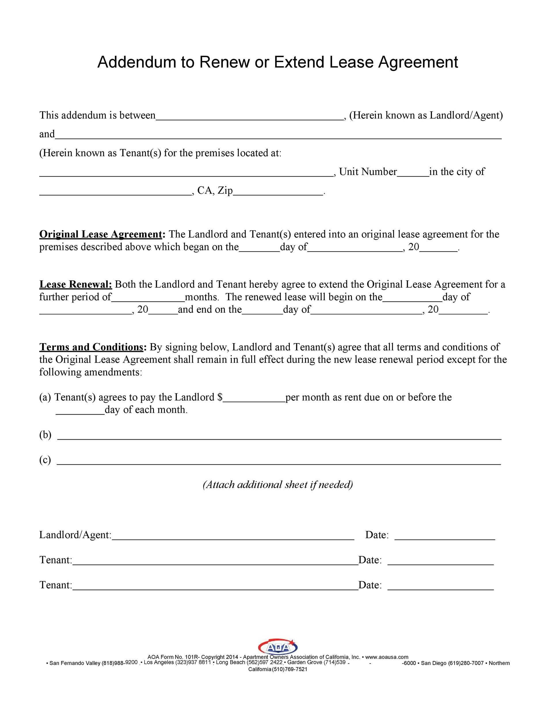 Free Lease Renewal Letter 29