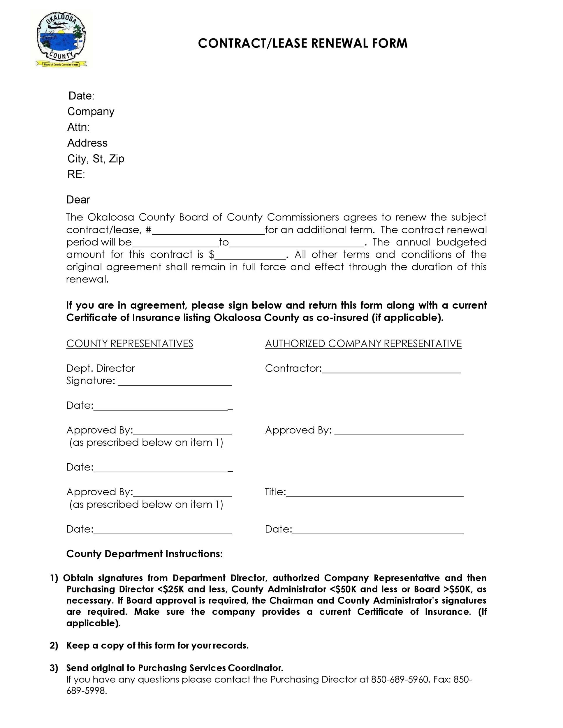 Free lease renewal letter 31