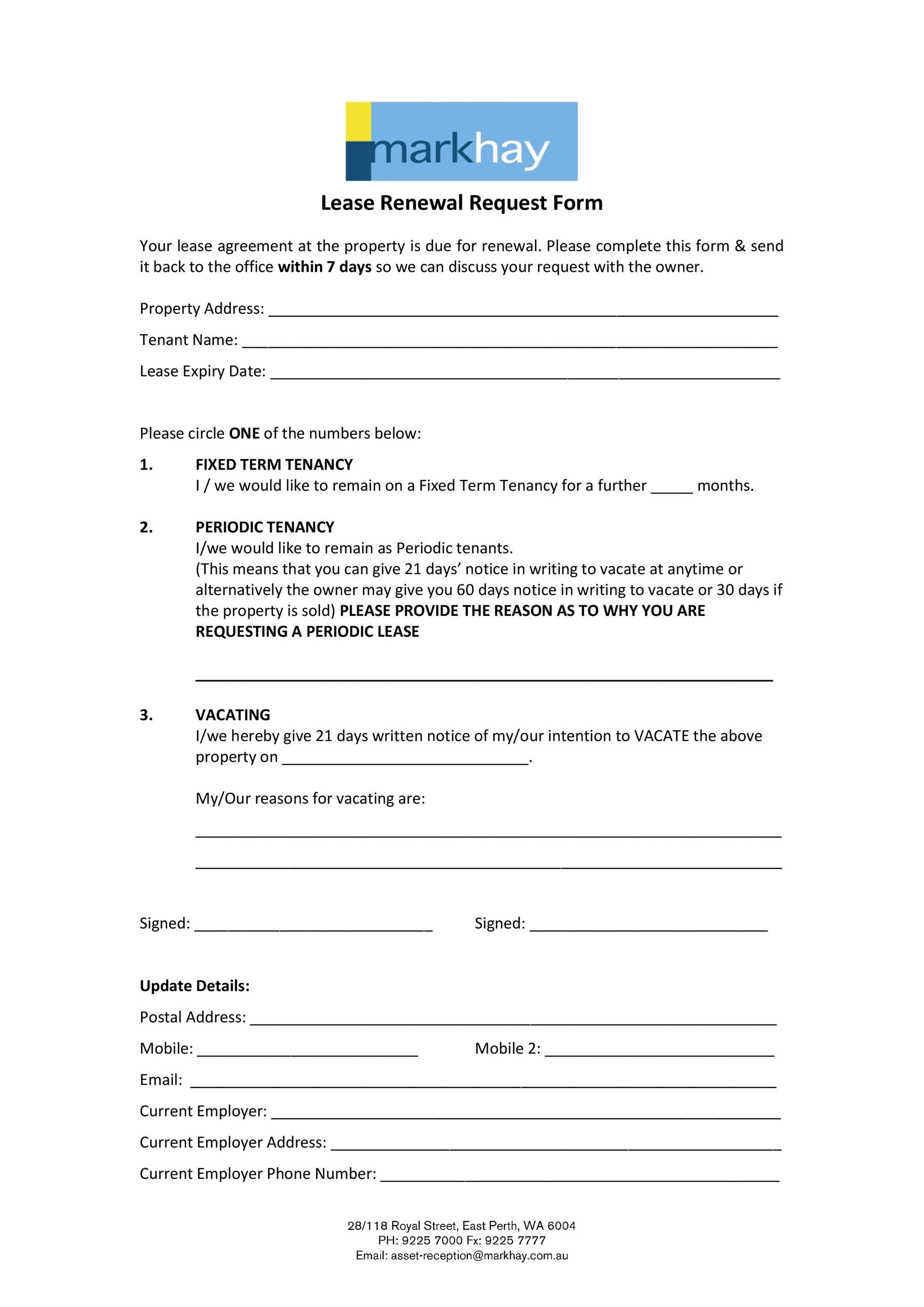 Free lease renewal letter 34