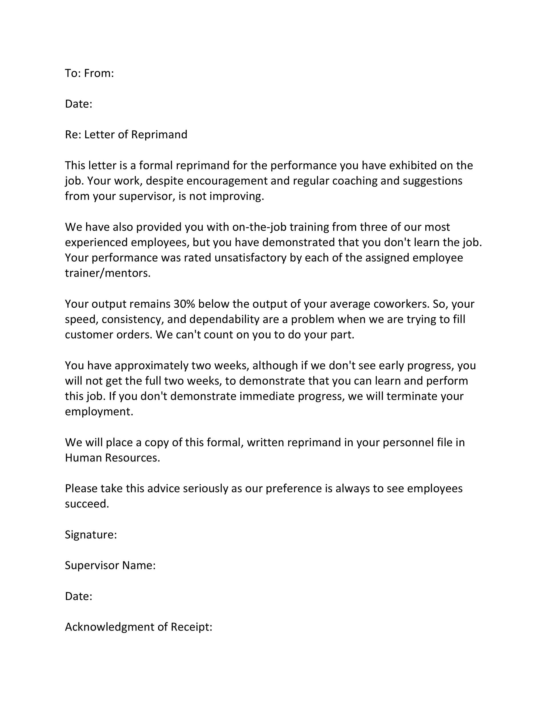 Complimentary Letter About Your Boss from templatelab.com
