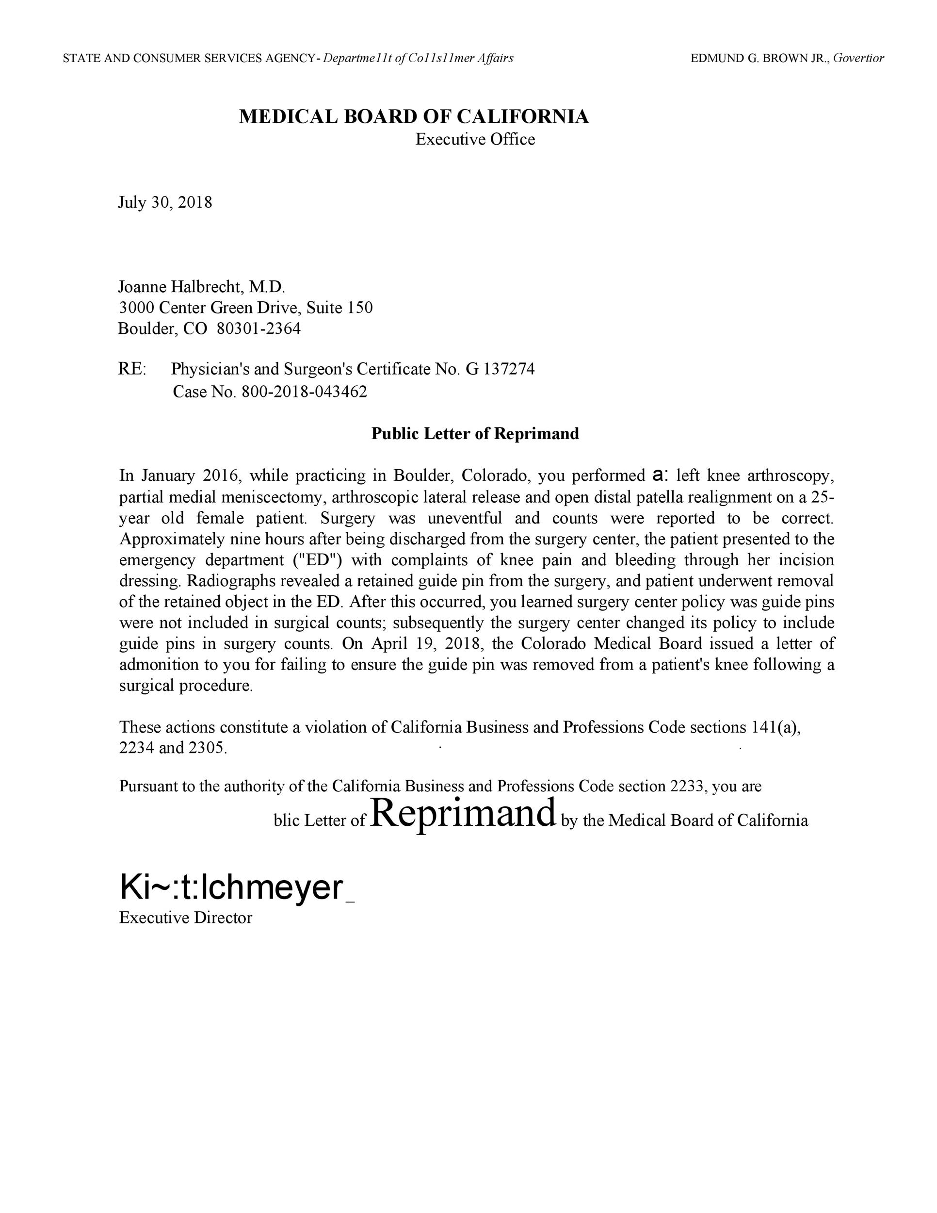 Sample Letter Of Reprimand For Misconduct from templatelab.com