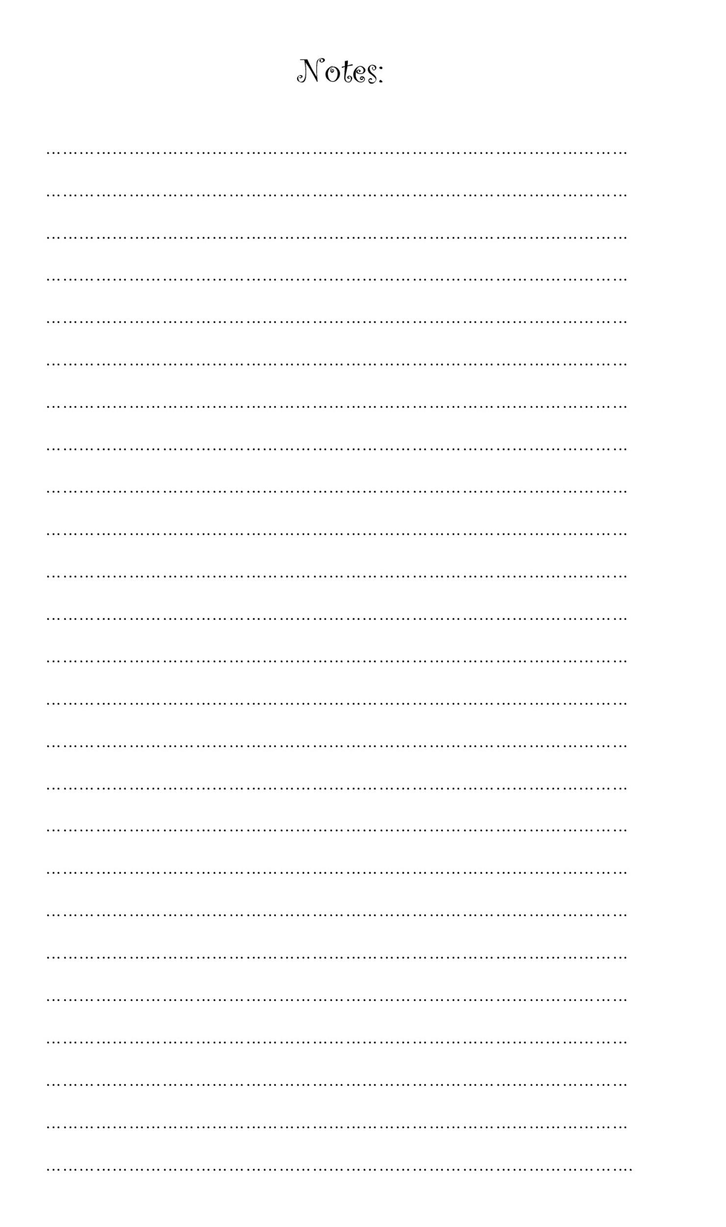 Free lined paper template 01