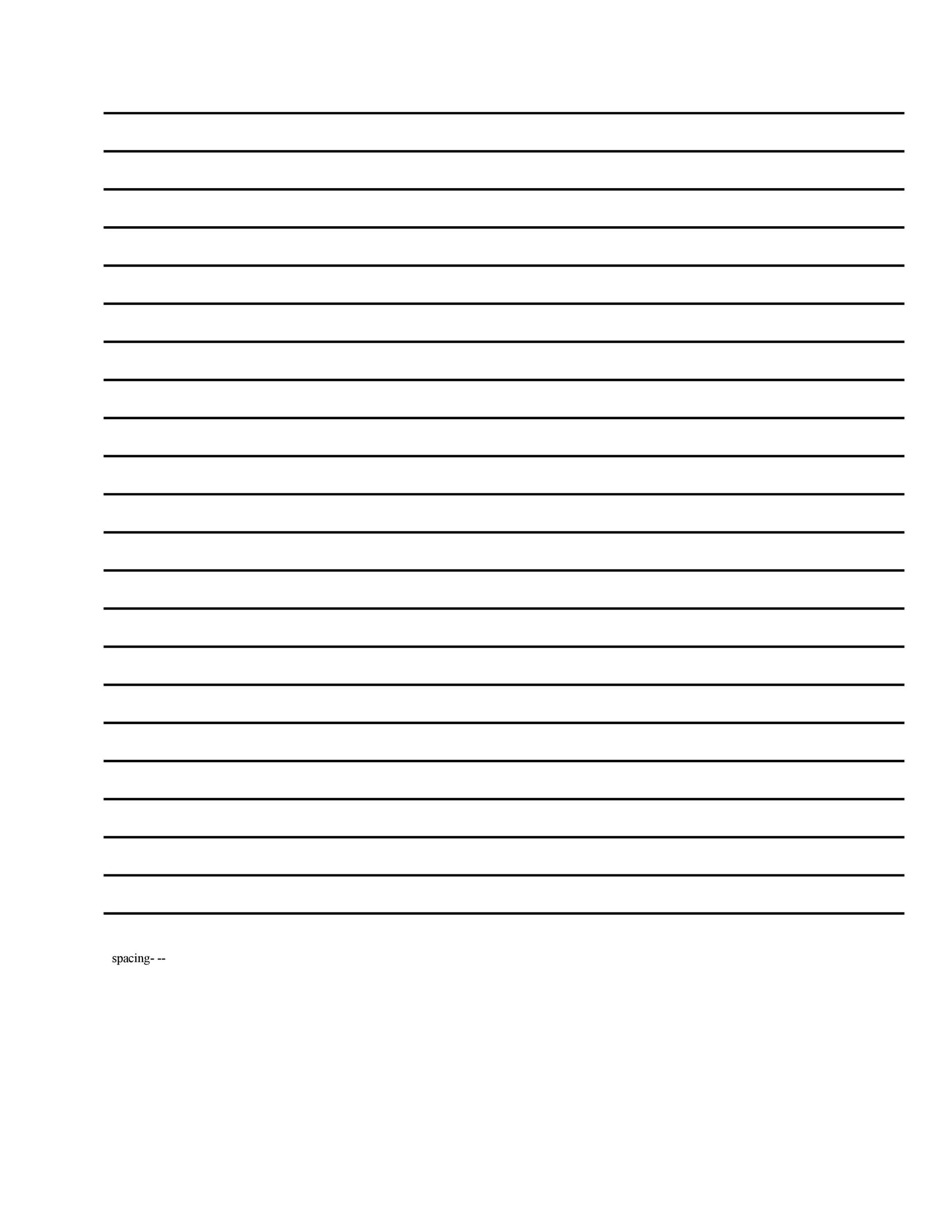 image regarding Lined Paper Printable Pdf named 32 Printable Included Paper Templates ᐅ Template Lab